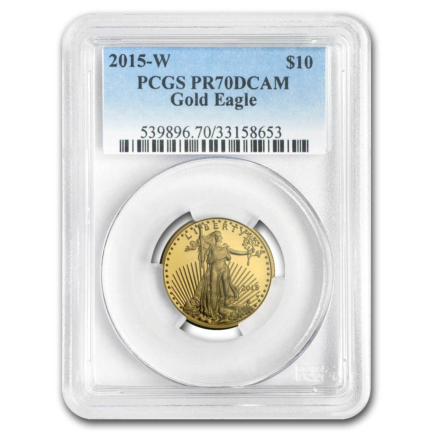 2015-W 1/4 oz Proof Gold American Eagle PR-70 PCGS