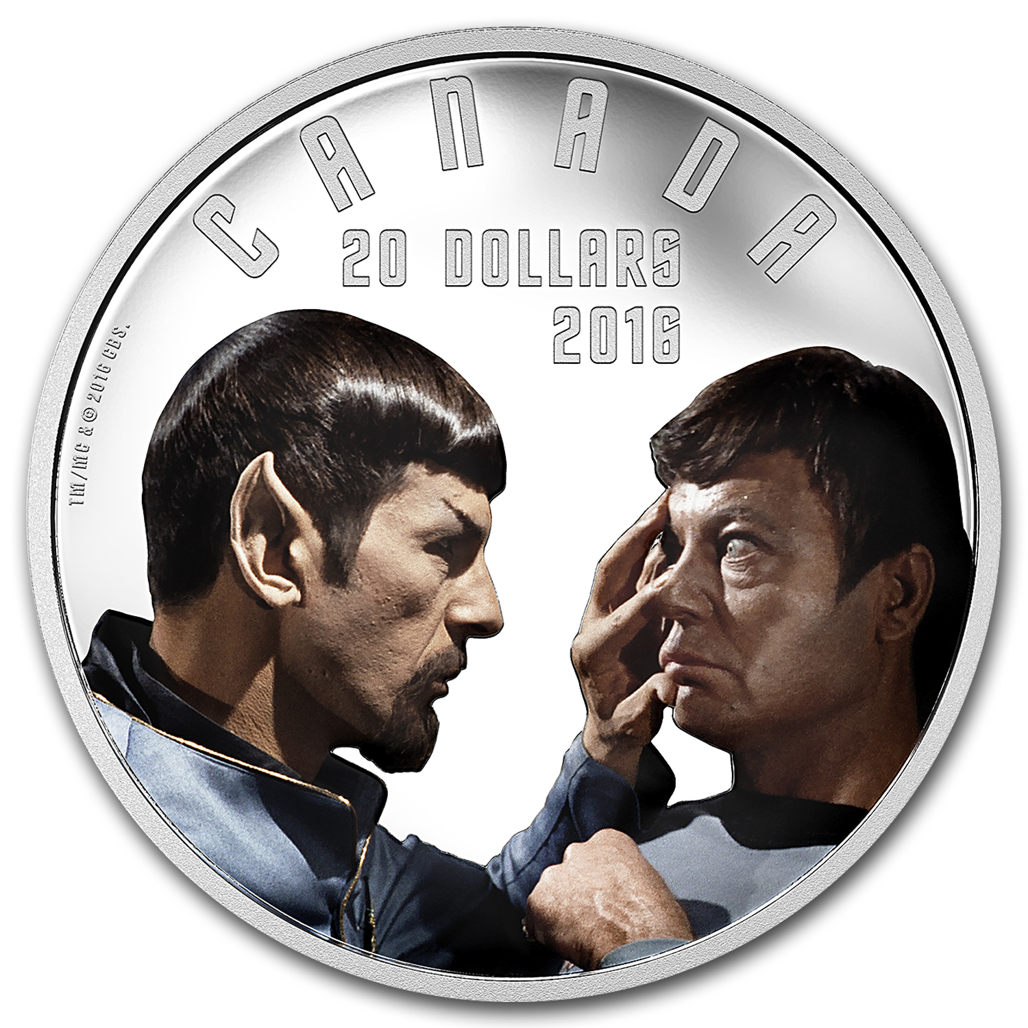 2016 Canada 1 oz Silver Proof $20 Star Trek: Mirror Mirror
