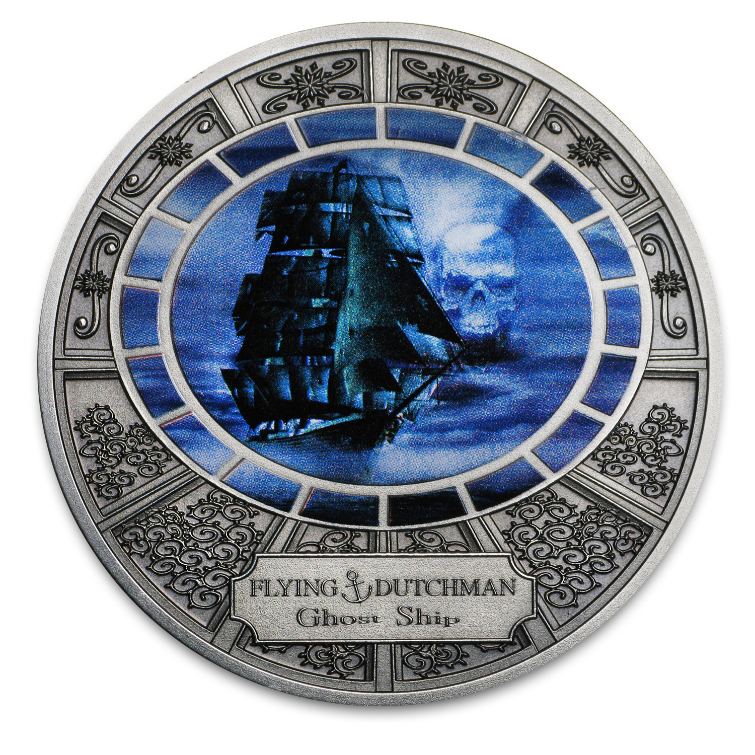 2016 Niue Silver Ghost Ships Flying Dutchmen