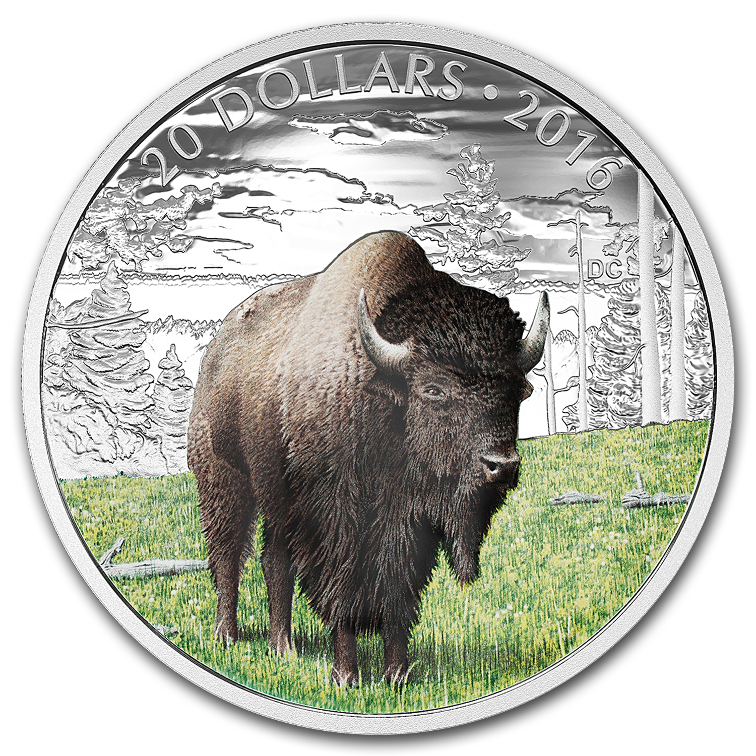 2016 Canada 1 oz Silver $20 Majestic Animals: Benevolent Bison