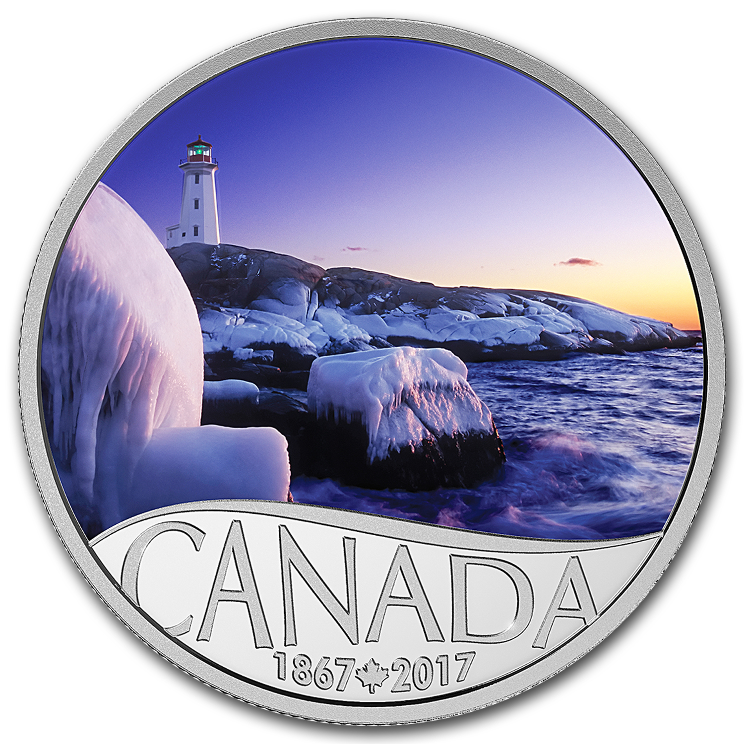 2017 Canada 1/2 oz Ag $10 Celebrating Canada's 150th: Lighthouse