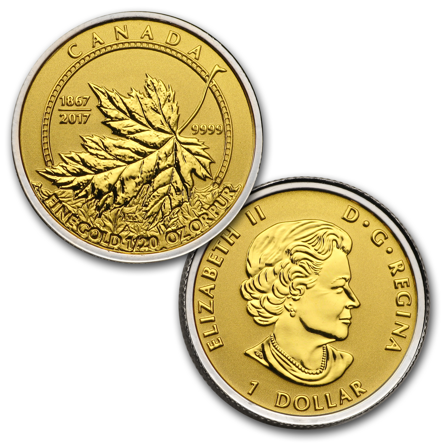 2017 Canada 4-Coin Gold Fractional Maple Leaf Set (1.4 oz)