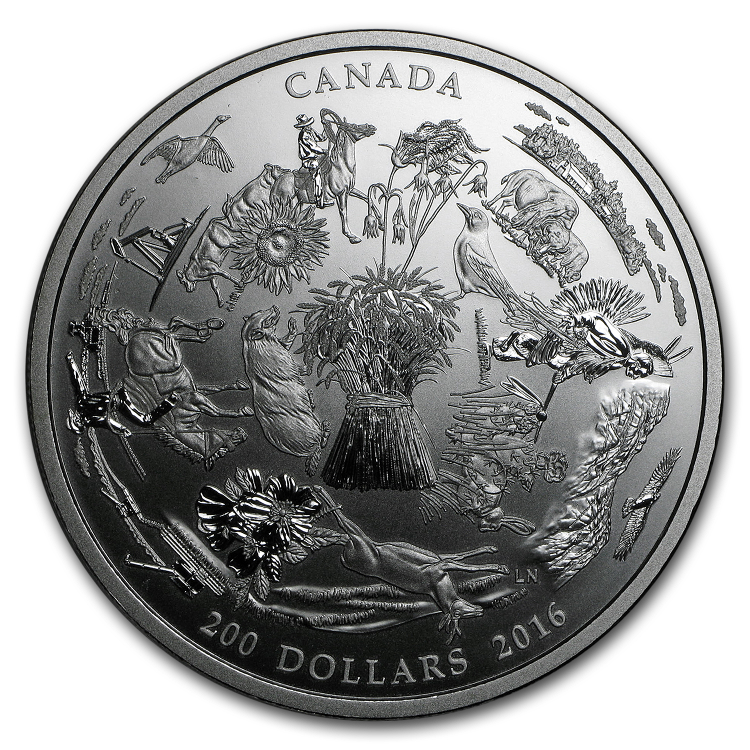 2016 Canada 2 oz Silver $200 for $200 Vast Prairies
