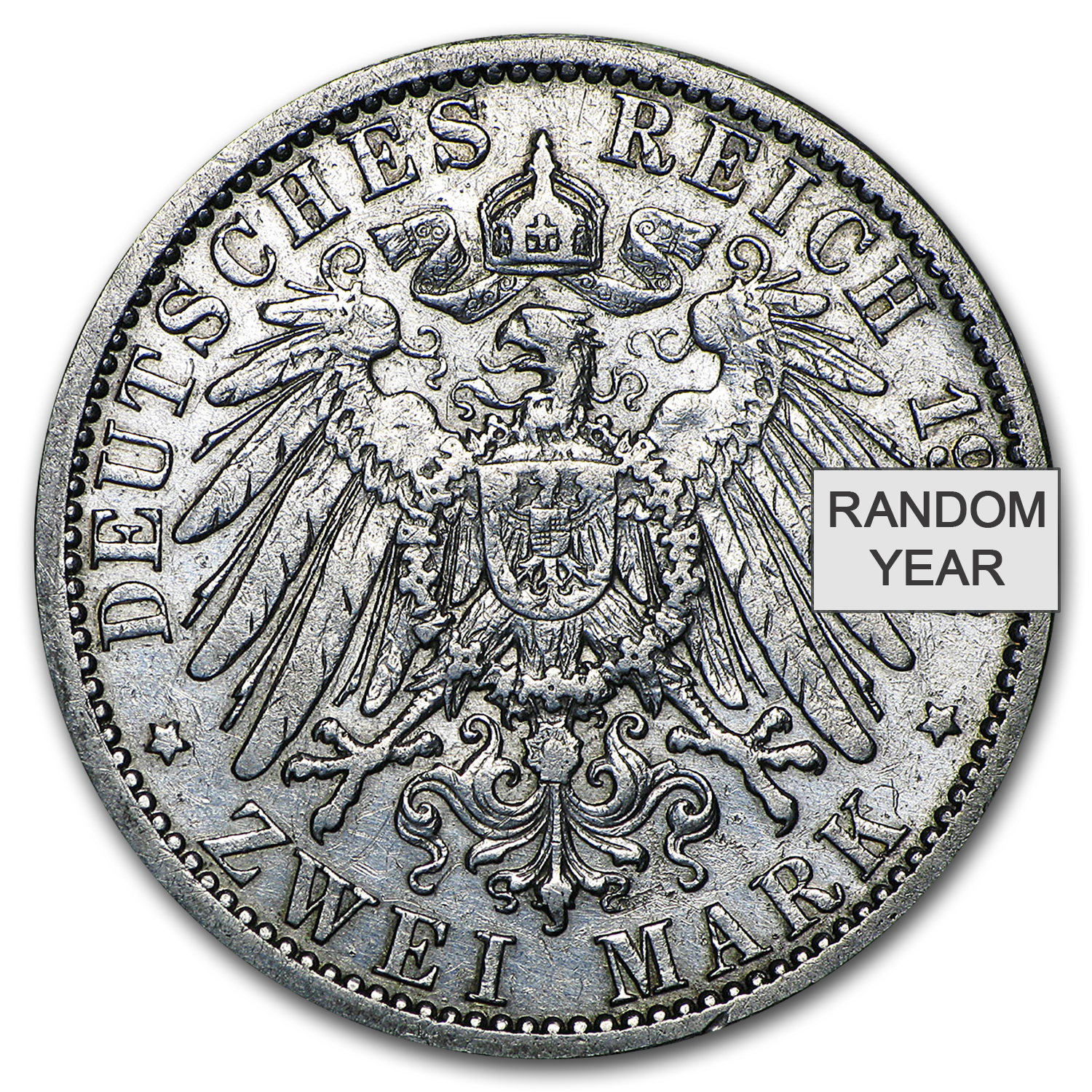 1891-1912 Germany 2 Mark Prussia William II Avg Circ