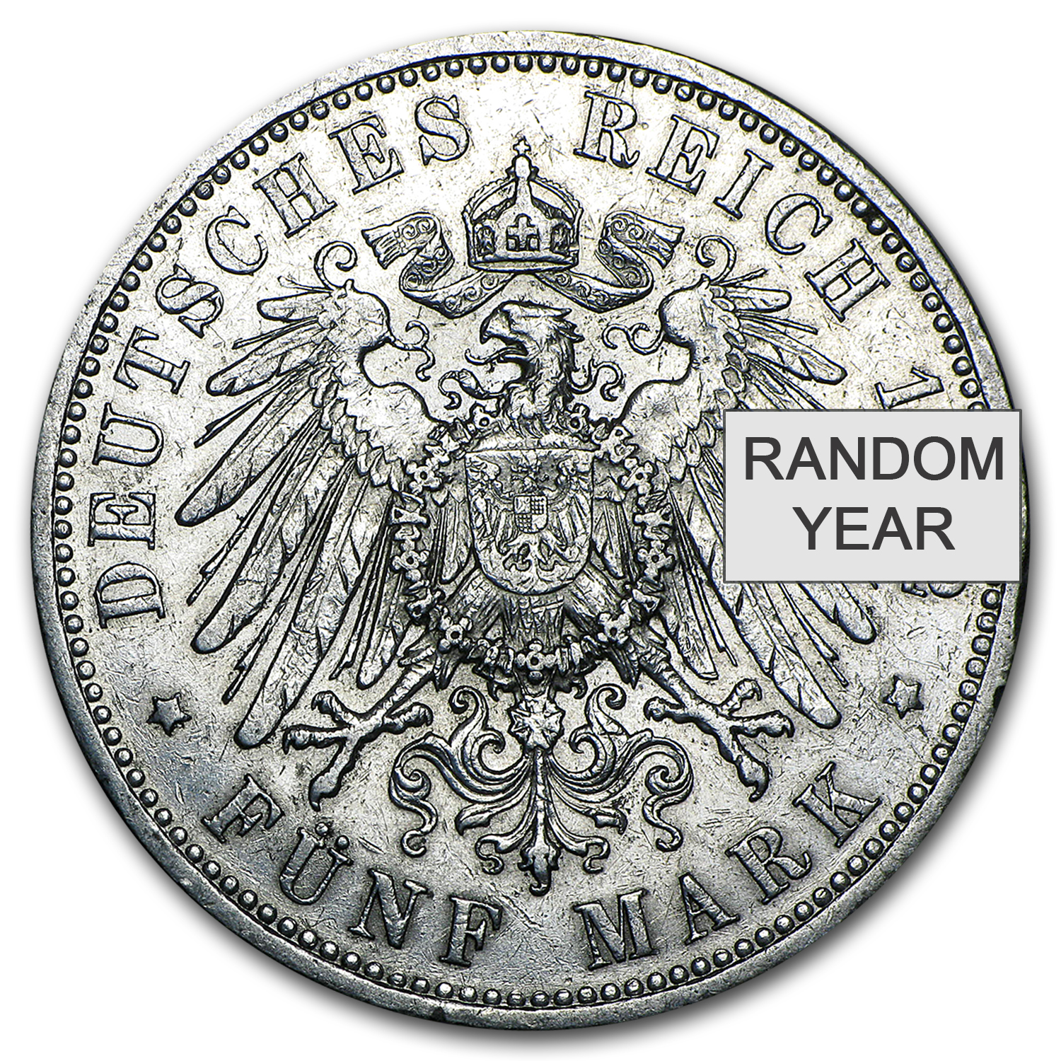 1891-1912 Germany 5 Mark Prussia William II Avg Circ
