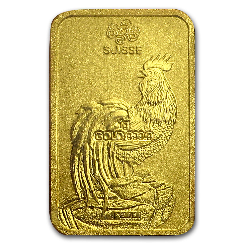 8x1 Gram Gold Bar Pamp Suisse Rooster Multigram 8 In