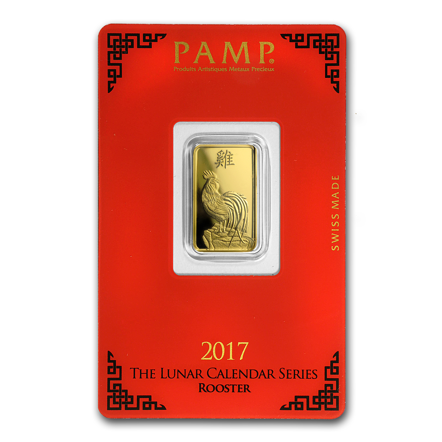 5 Gram Gold Bar Pamp Suisse Year Of The Rooster In