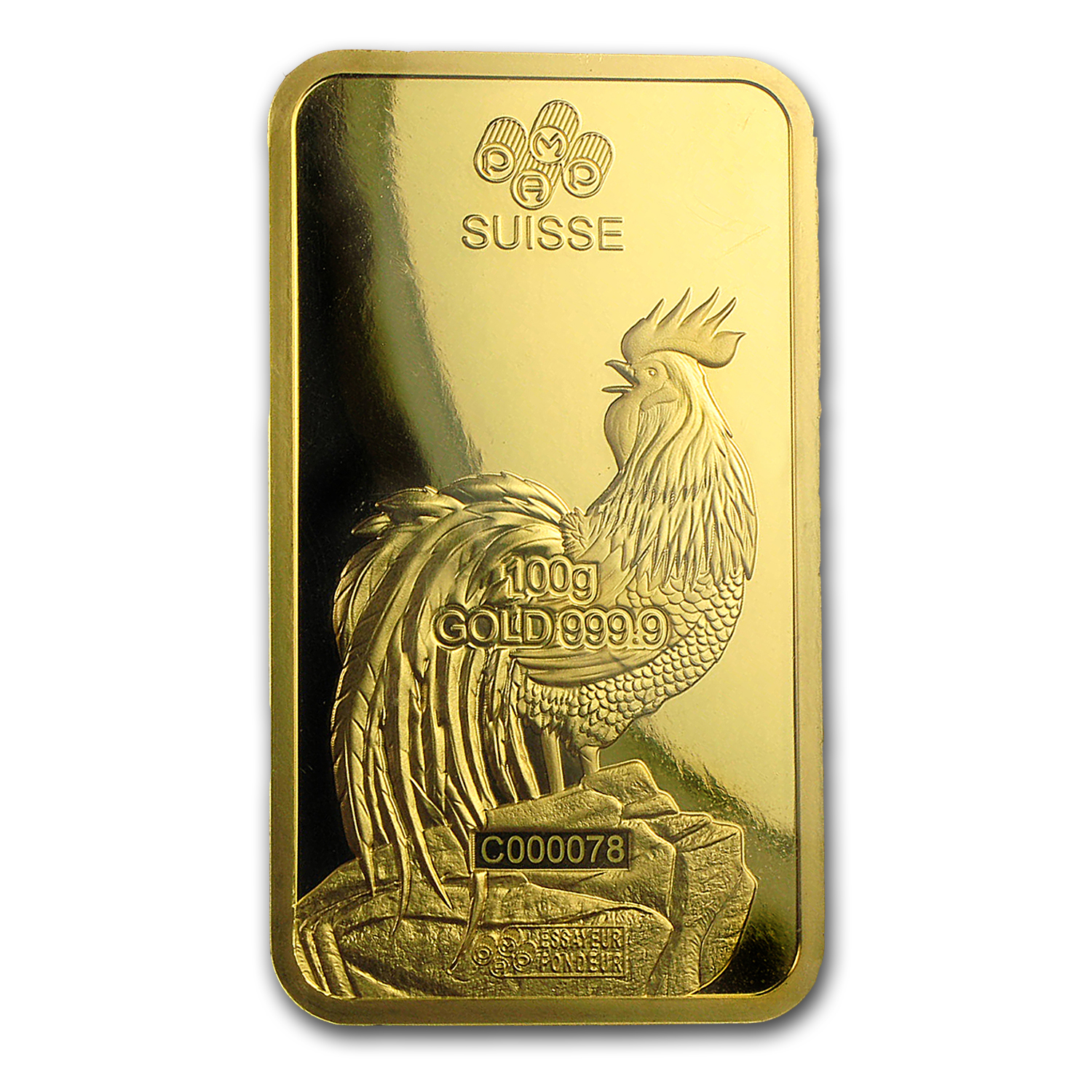 100 Gram Gold Bar Pamp Suisse Year Of The Rooster In