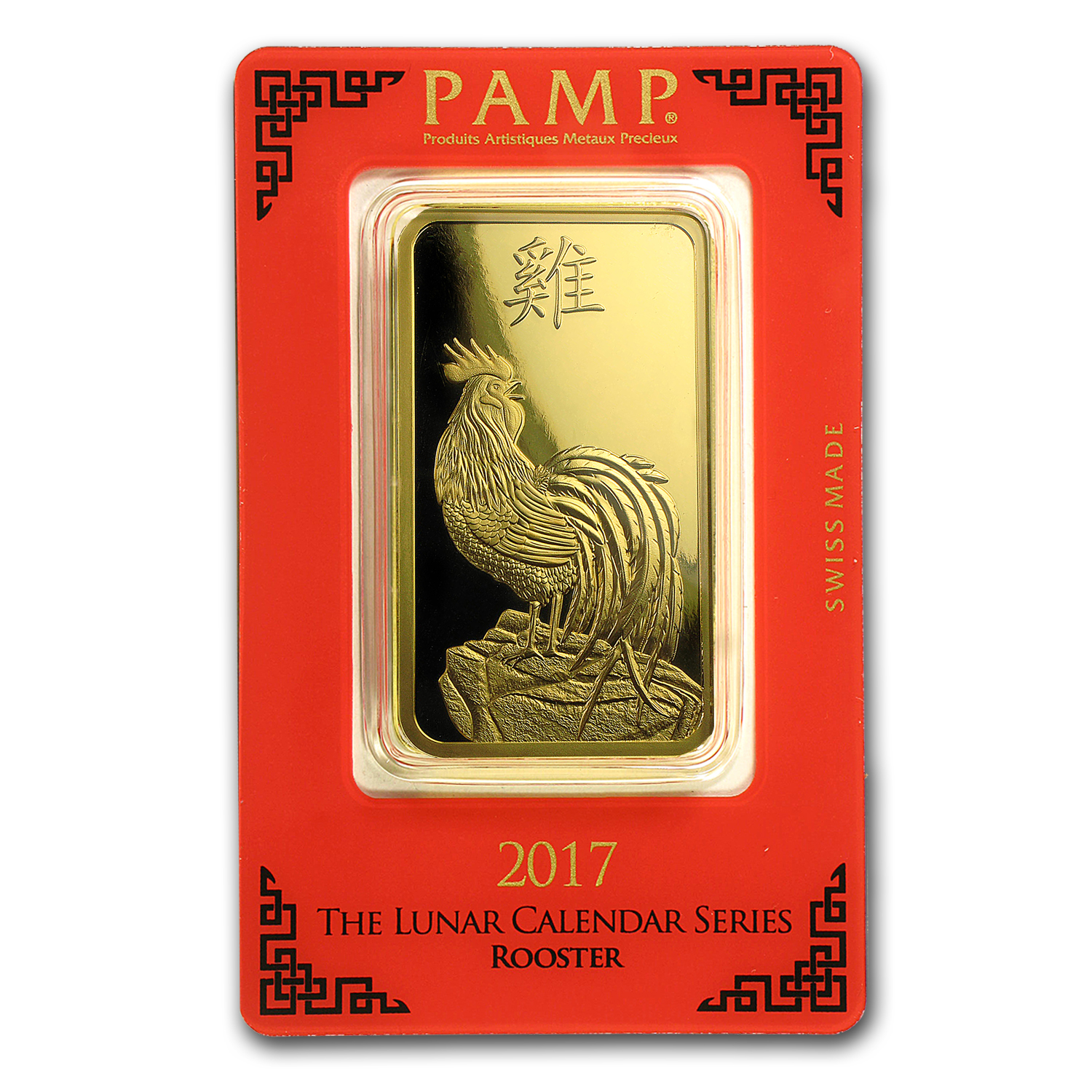 100 gram Gold Bar - PAMP Suisse Year of the Rooster (In Assay)
