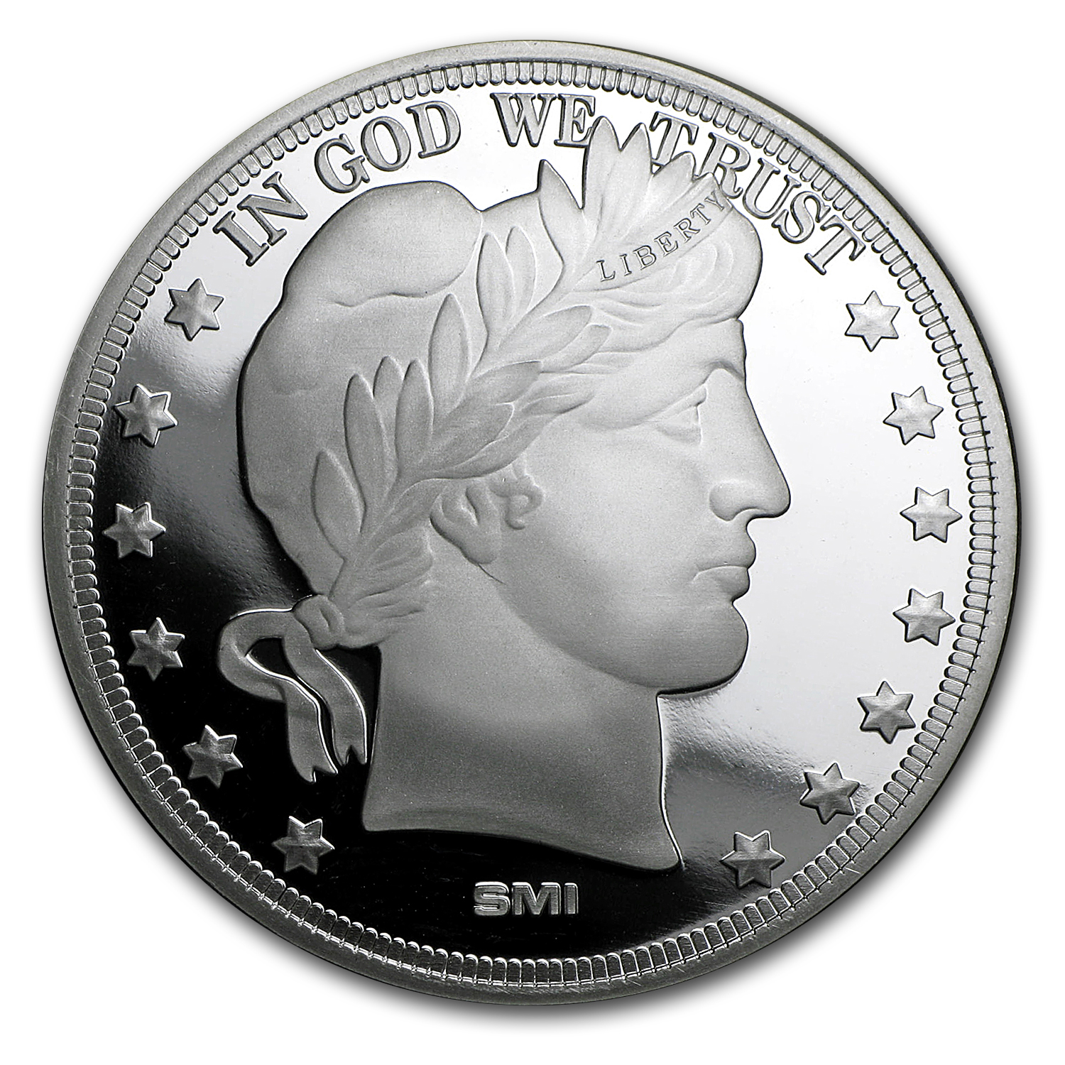 1 Oz Silver Round Barber Dollar 1 Oz Bullion Silver