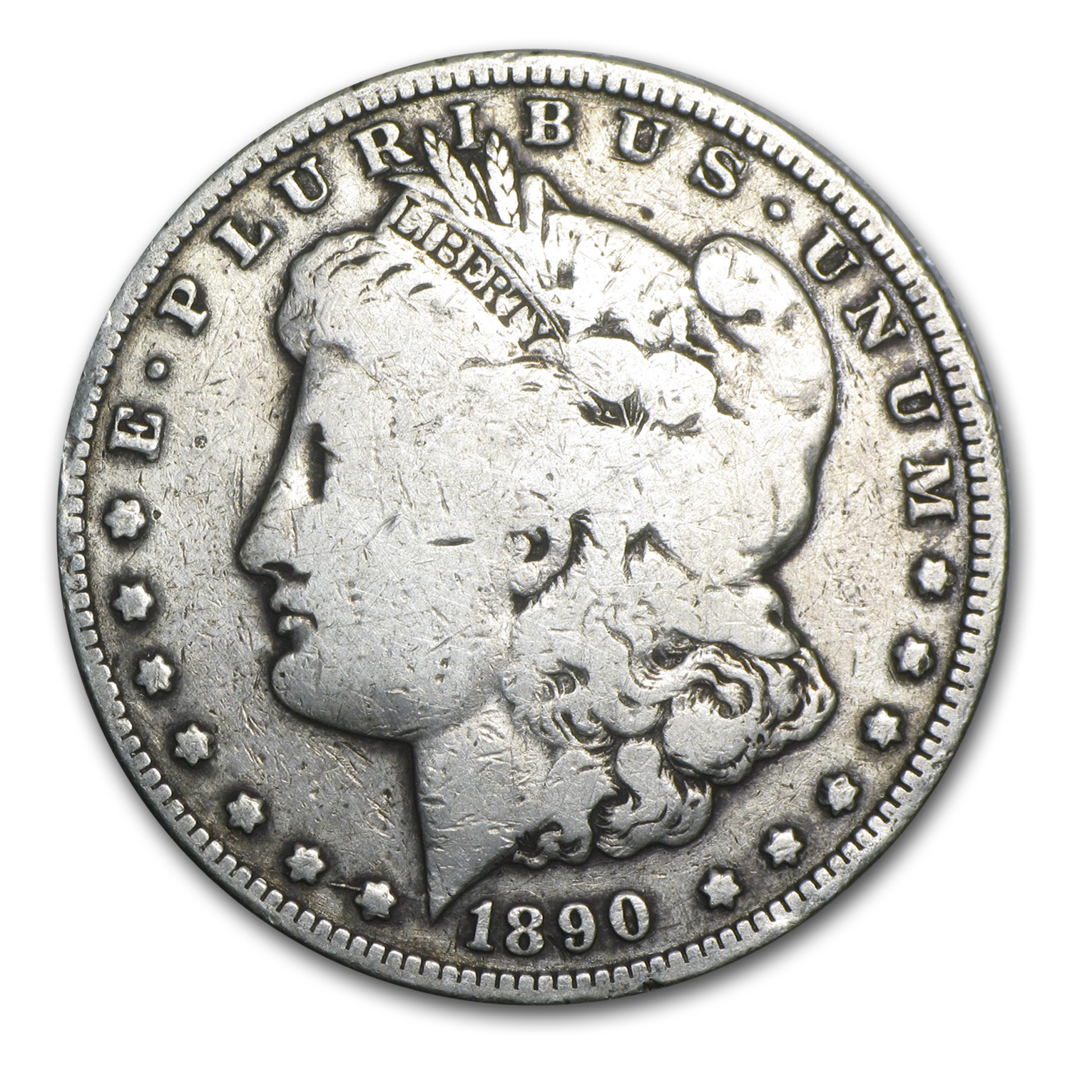 1890-CC Morgan Dollar VG Details Cleaned