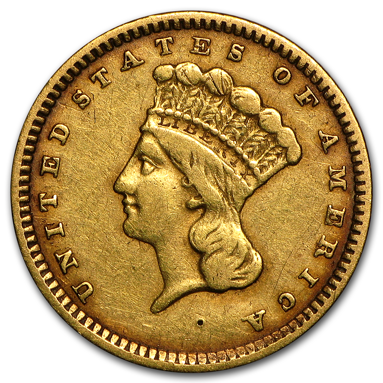 $1 Indian Head Gold Type 3 VF (Random Years)