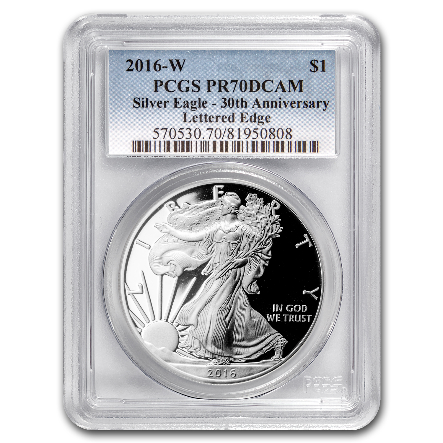 2016-W Proof Silver American Eagle PR-70 PCGS