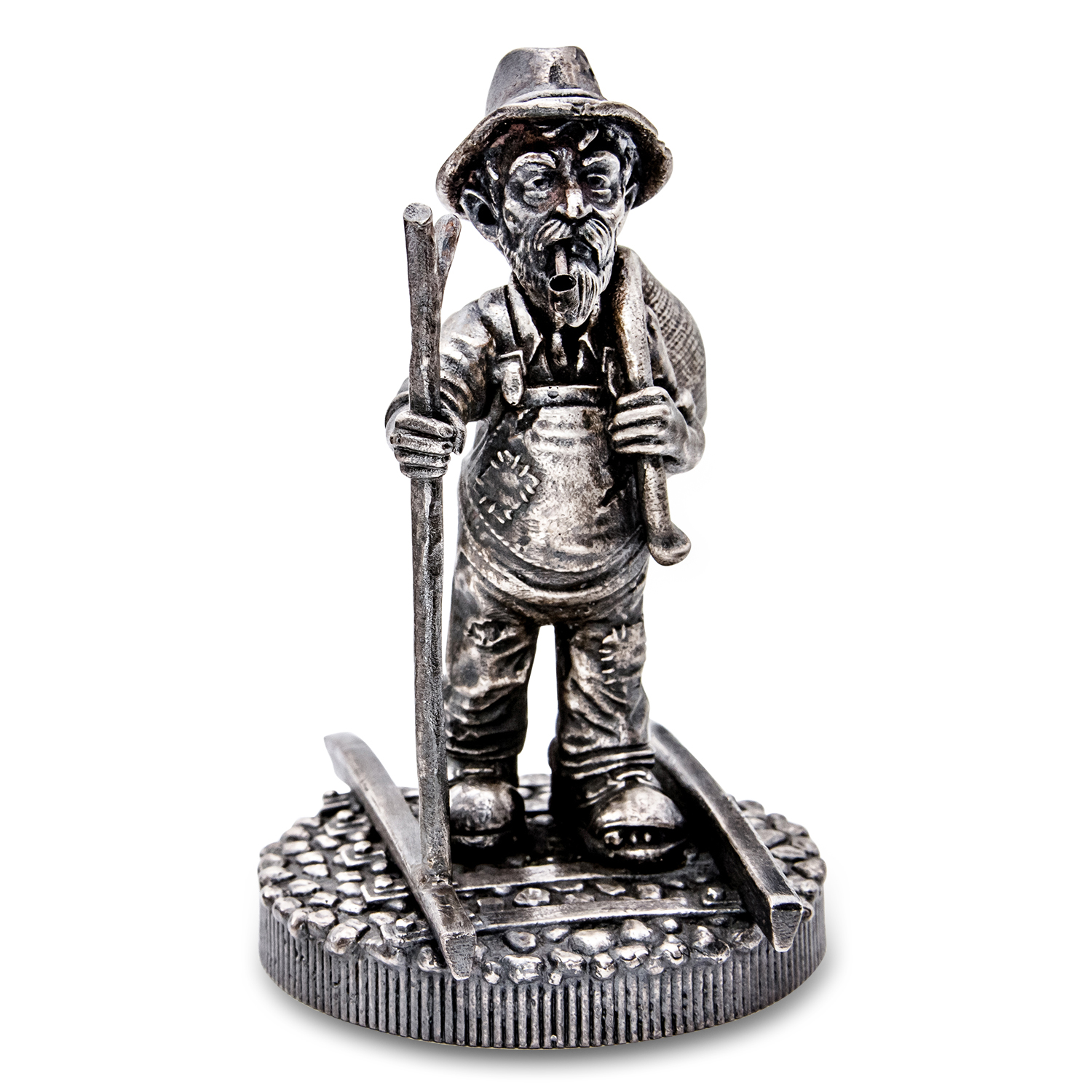 10 oz Silver Antique Statue - Hobo Nickel (The Train)