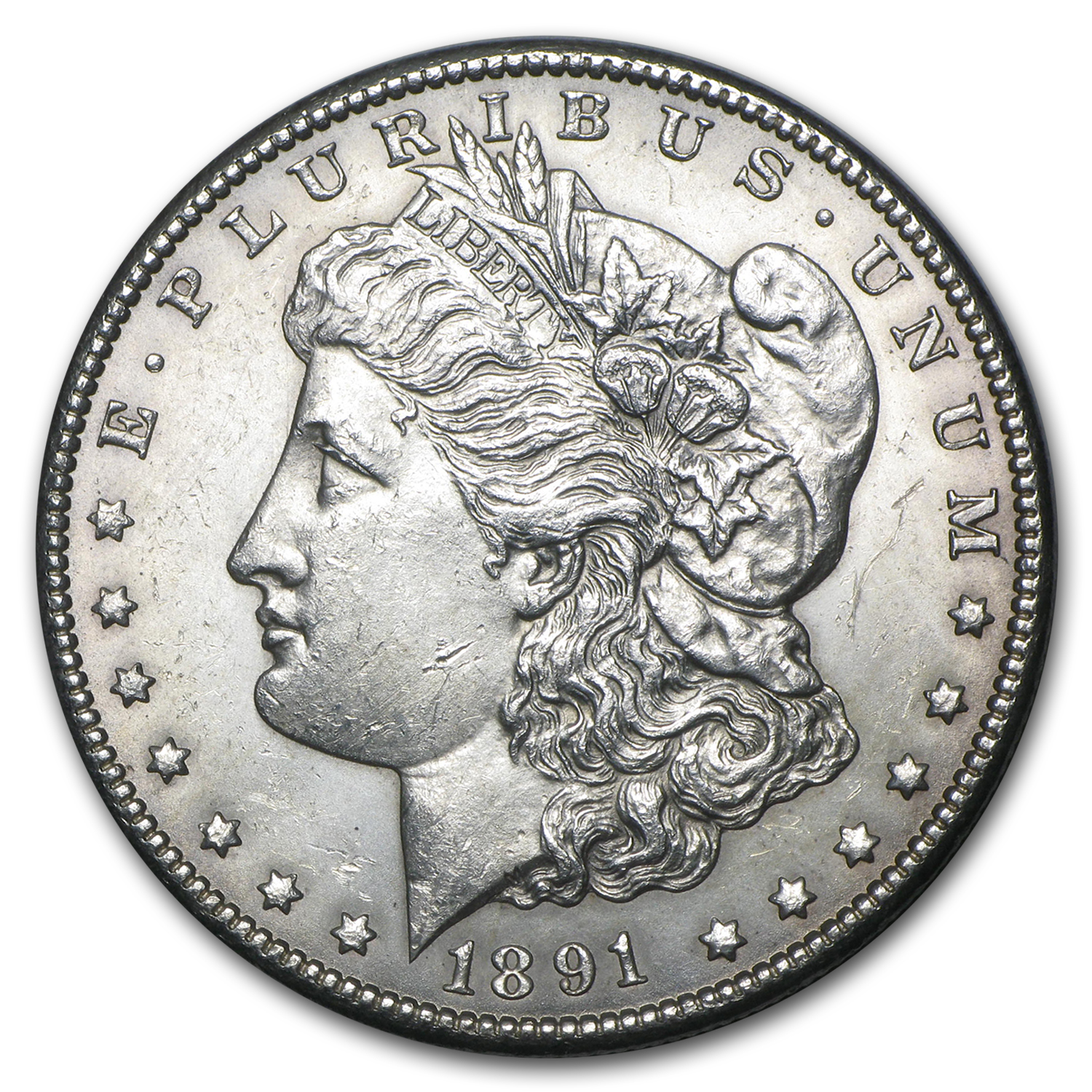 1891-CC Morgan Dollar BU