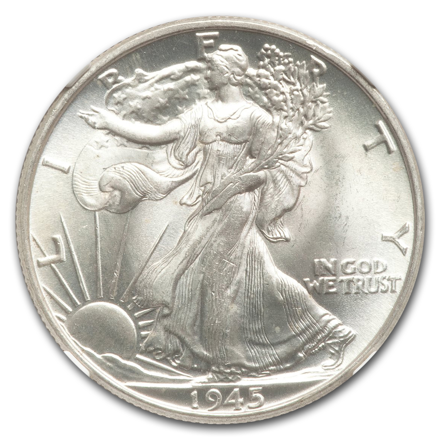 1945 Walking Liberty Half Dollar MS-67 NGC