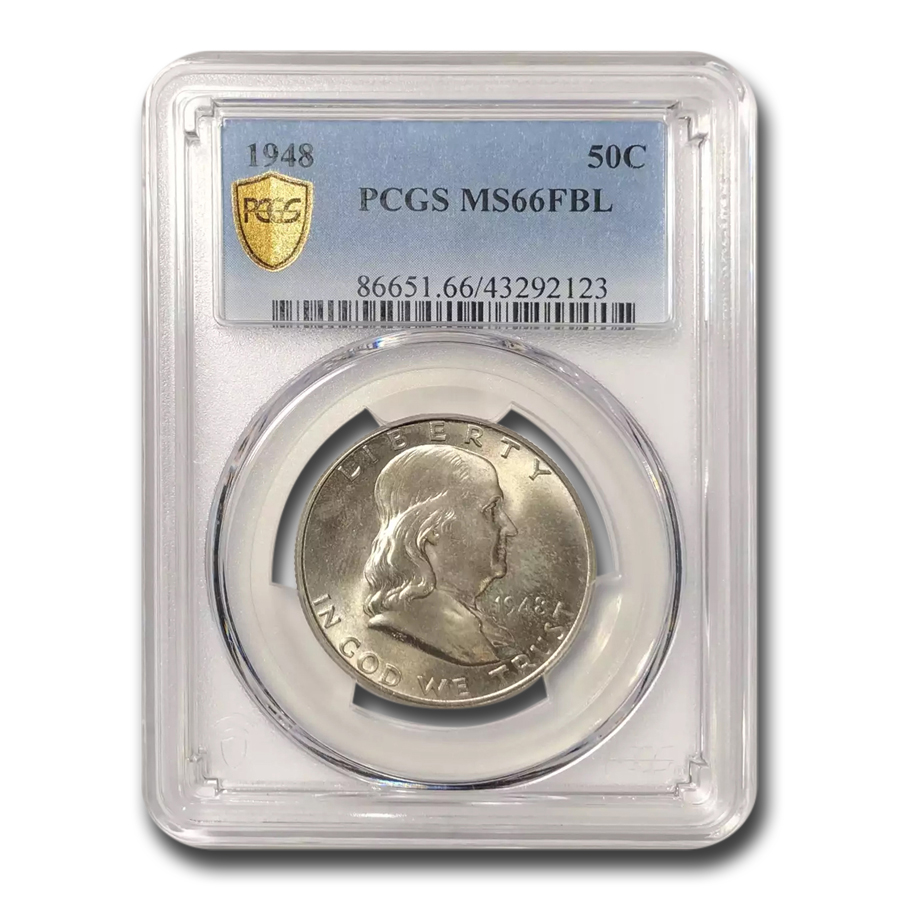 1948 Franklin Half Dollar MS-66 PCGS (FBL)