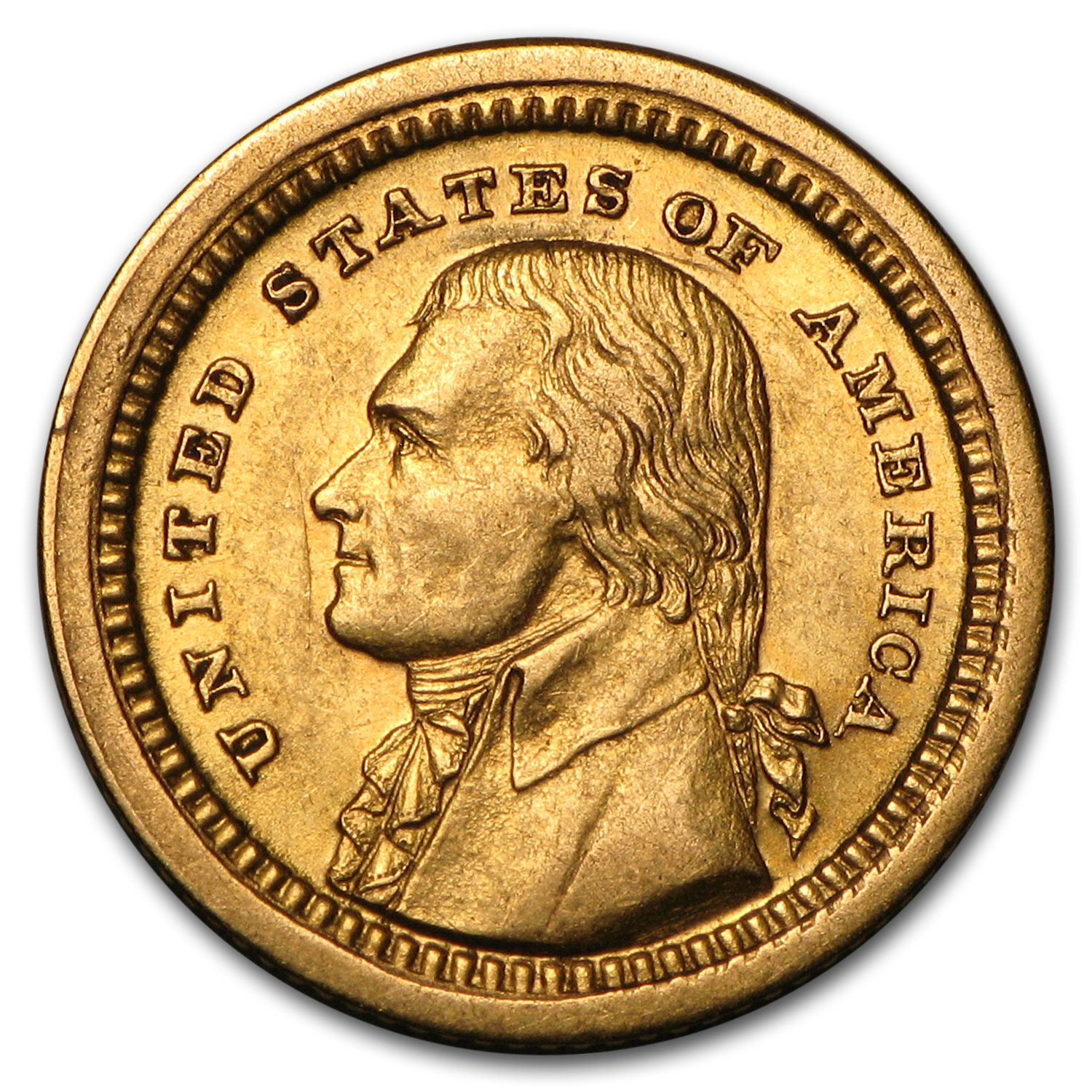 1903 Gold $1.00 Louisiana Purchase Jefferson AU