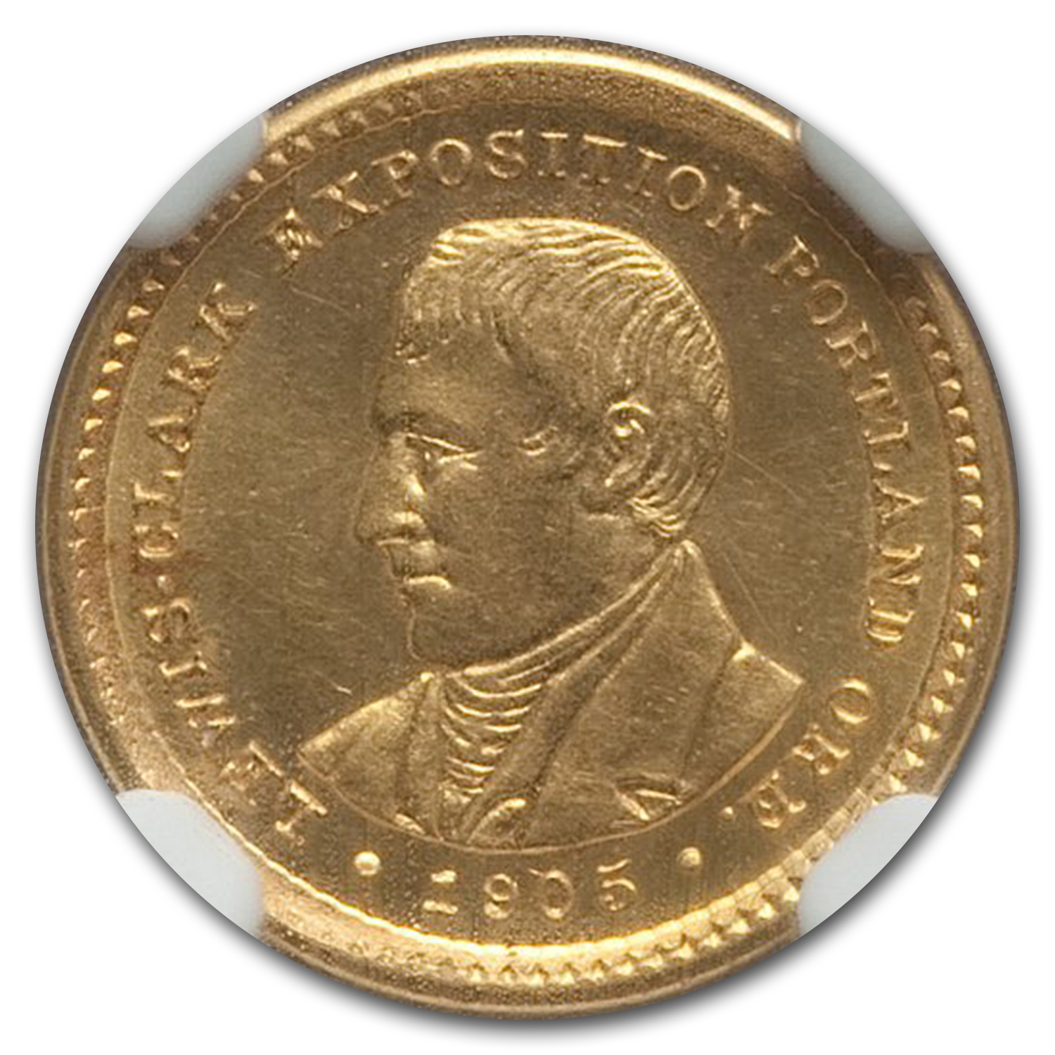 1905 Gold $1.00 Lewis & Clark MS-62 NGC