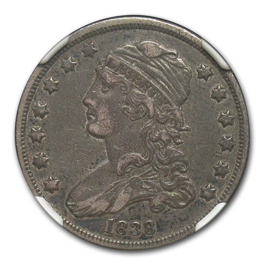 1838 Capped Bust Quarter XF-45 NGC