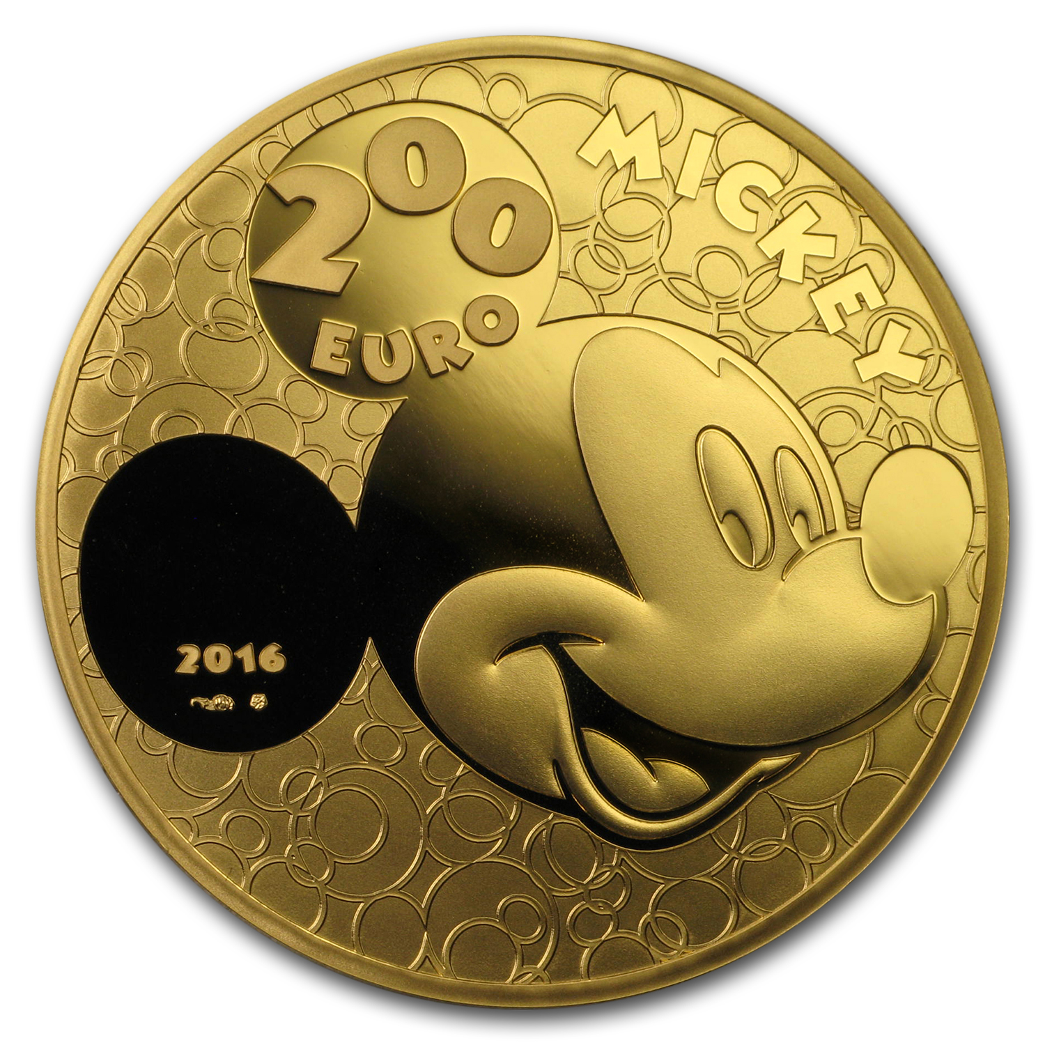 2016 France 1 oz Proof Gold Mickey Through the Ages