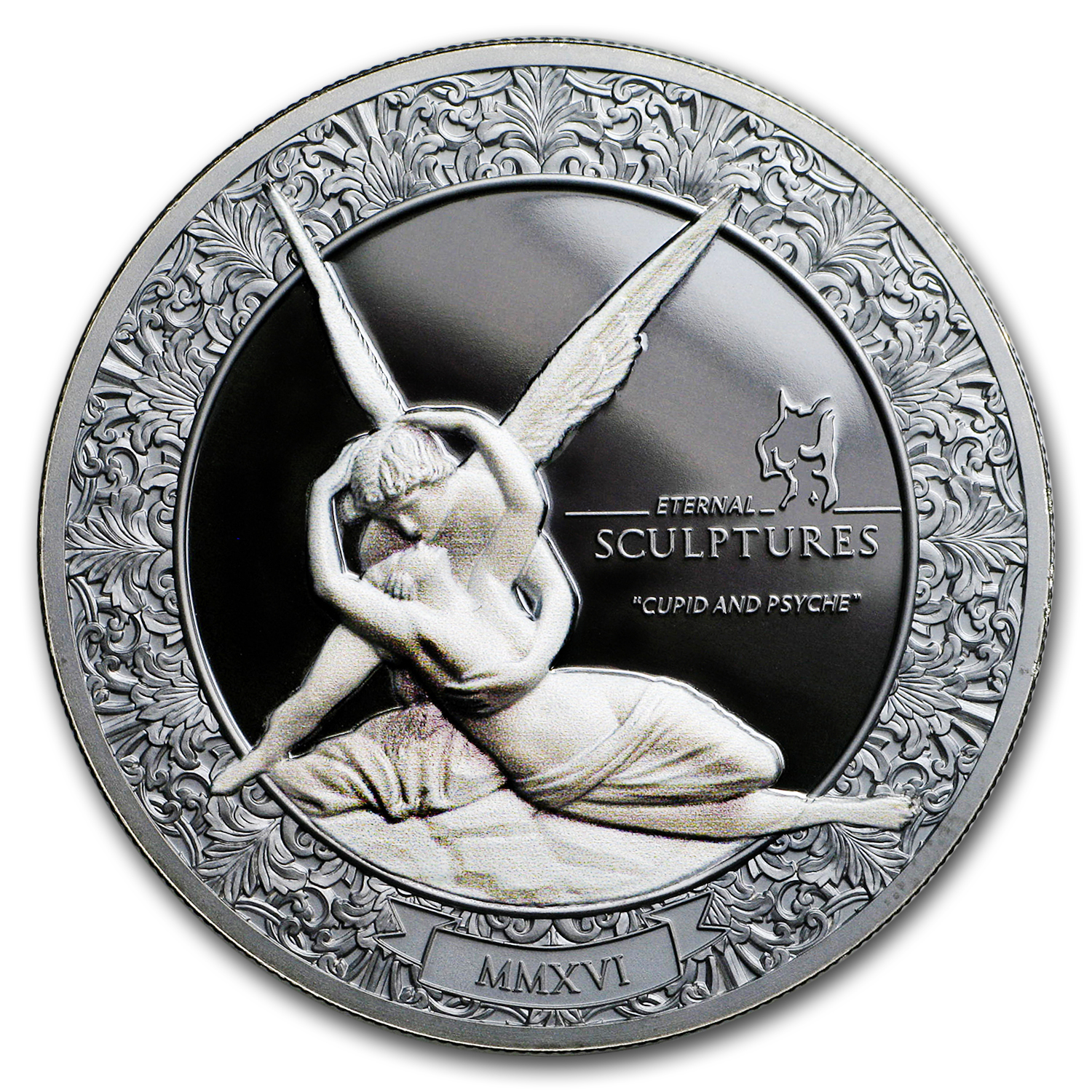 2016 Palau 2 oz Silver $10 Eternal Sculptures (Cupid and Psyche)
