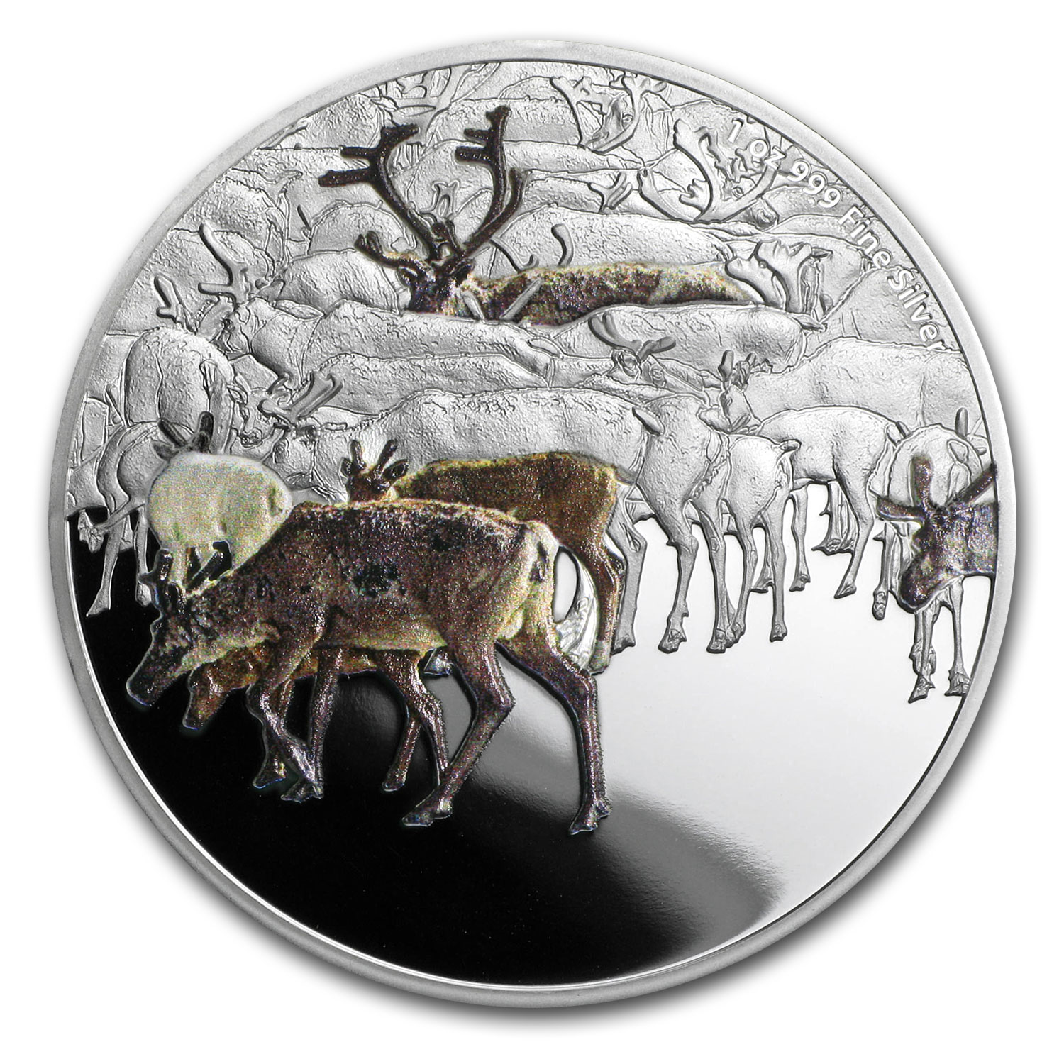 2016 Niue 1 oz Silver Great Migrations Caribou Proof