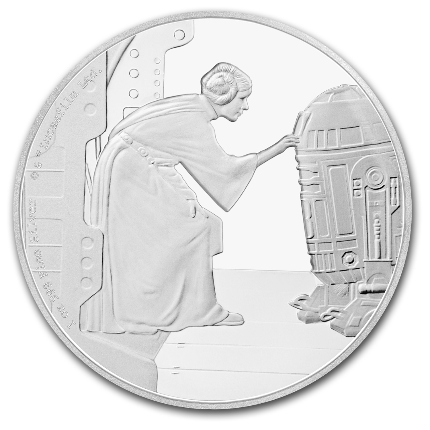 2016 Niue 1 oz Silver $2 Star Wars Princess Leia (w/Box & COA)