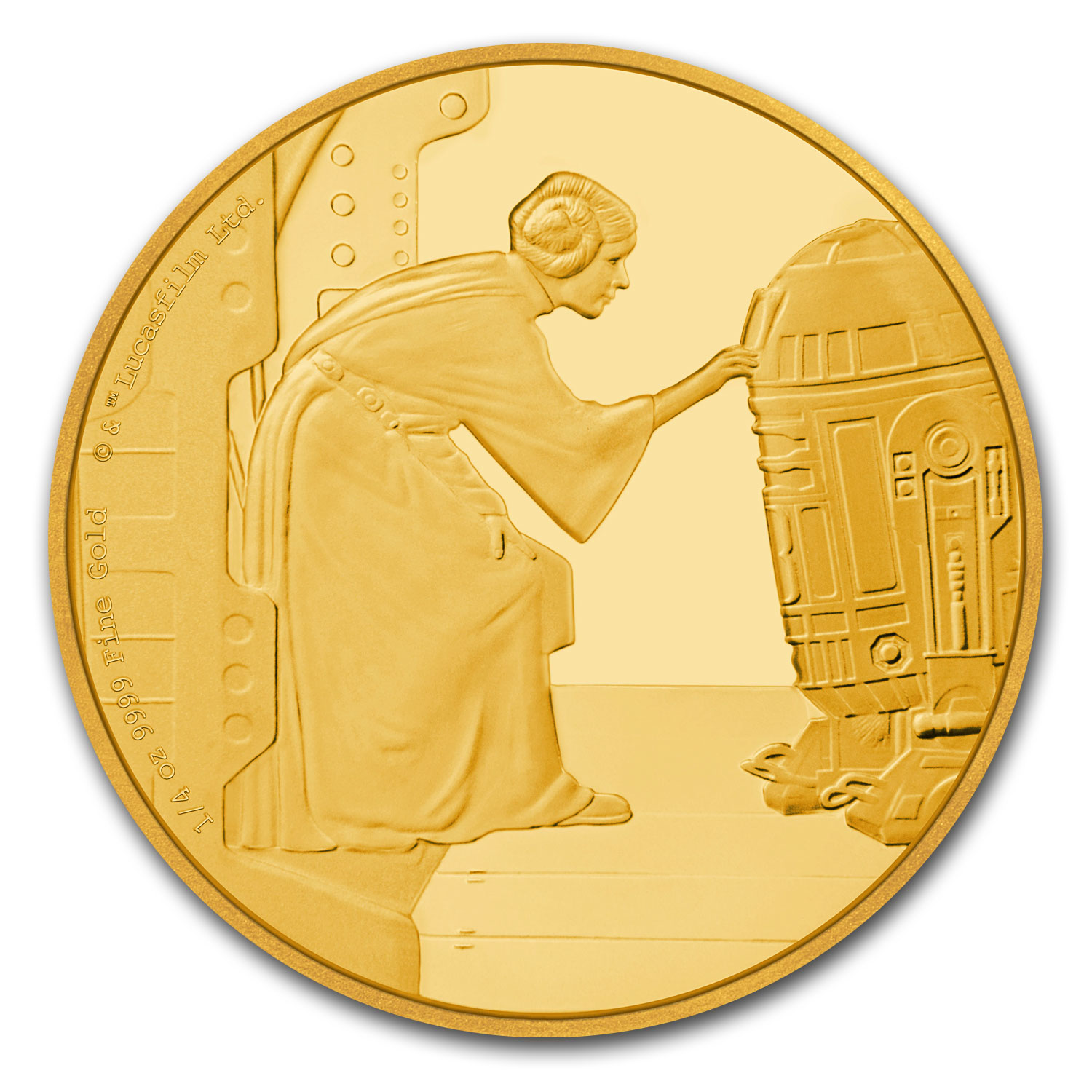2016 Niue 1/4 oz Gold $25 Star Wars Princess Leia Prf (Box & COA)