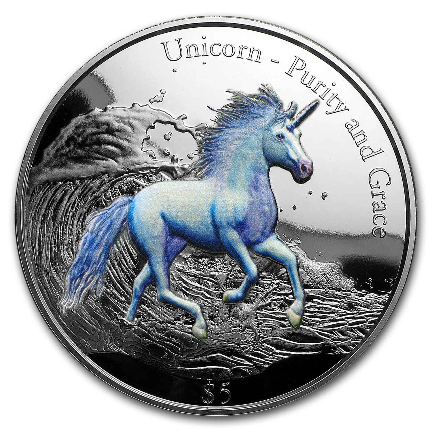 2016 Cook Islands 3 oz Silver 3D-HR Purity & Grace: Unicorn