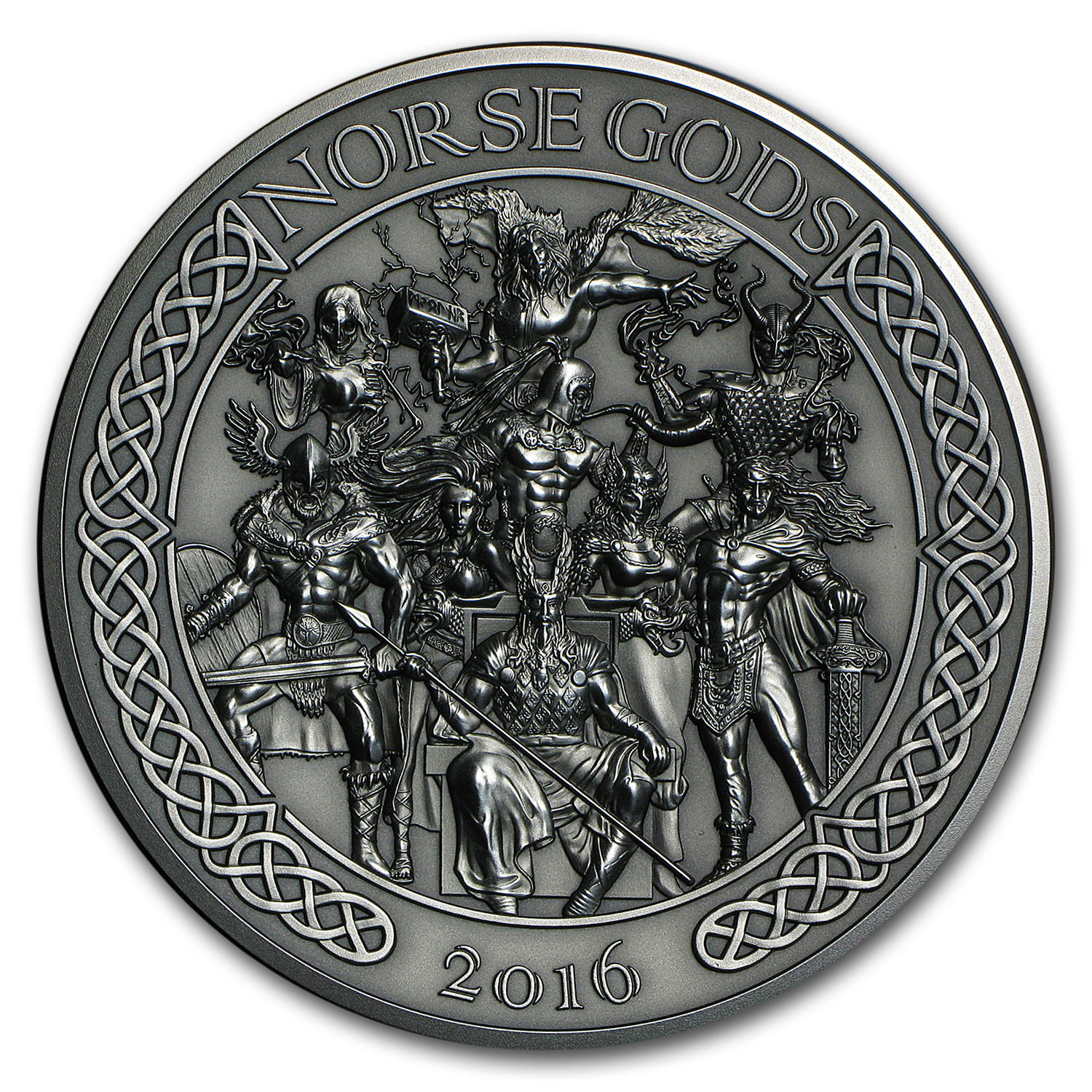 2016 Cook Islands 5 oz Silver High Relief Norse Gods