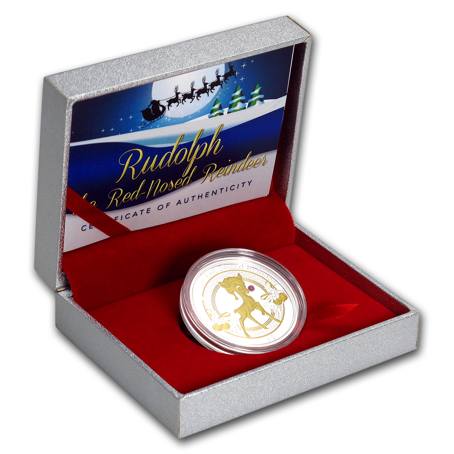 2016 Christmas Island Proof Silver Rudolph the Red-Nosed Reindeer