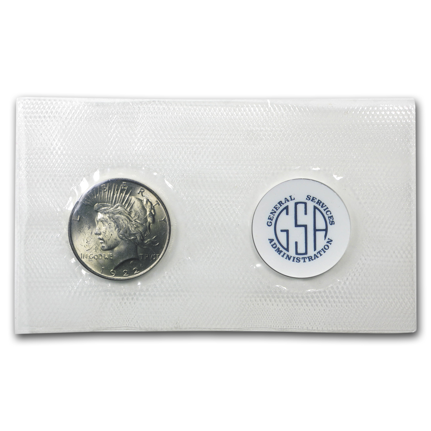1922 Peace Dollar BU (GSA Soft Pack)
