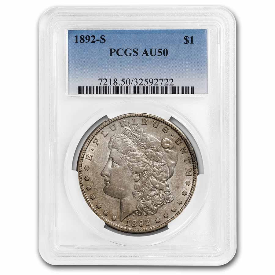 1892-S Morgan Dollar AU-50 PCGS