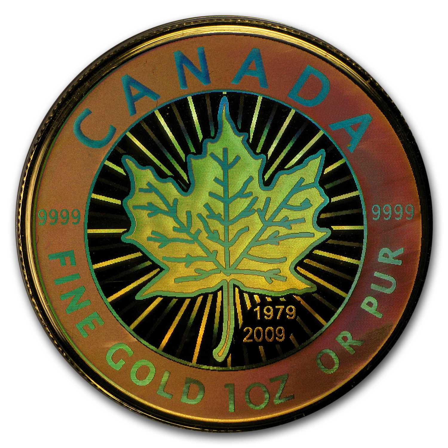 2009 Canada 4-Coin Proof Gold Maple Leaf Hologram Set (1.4 oz)