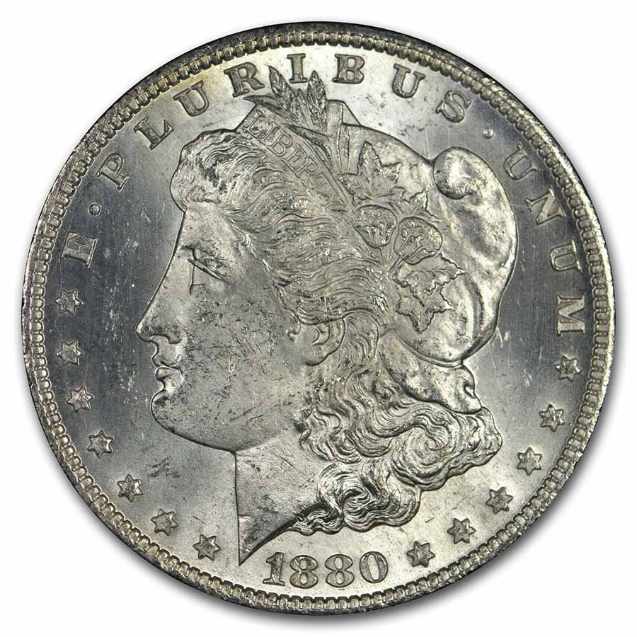 1880-CC Morgan Dollar Rev of 78 MS-63 NGC (GSA VAM-7A)