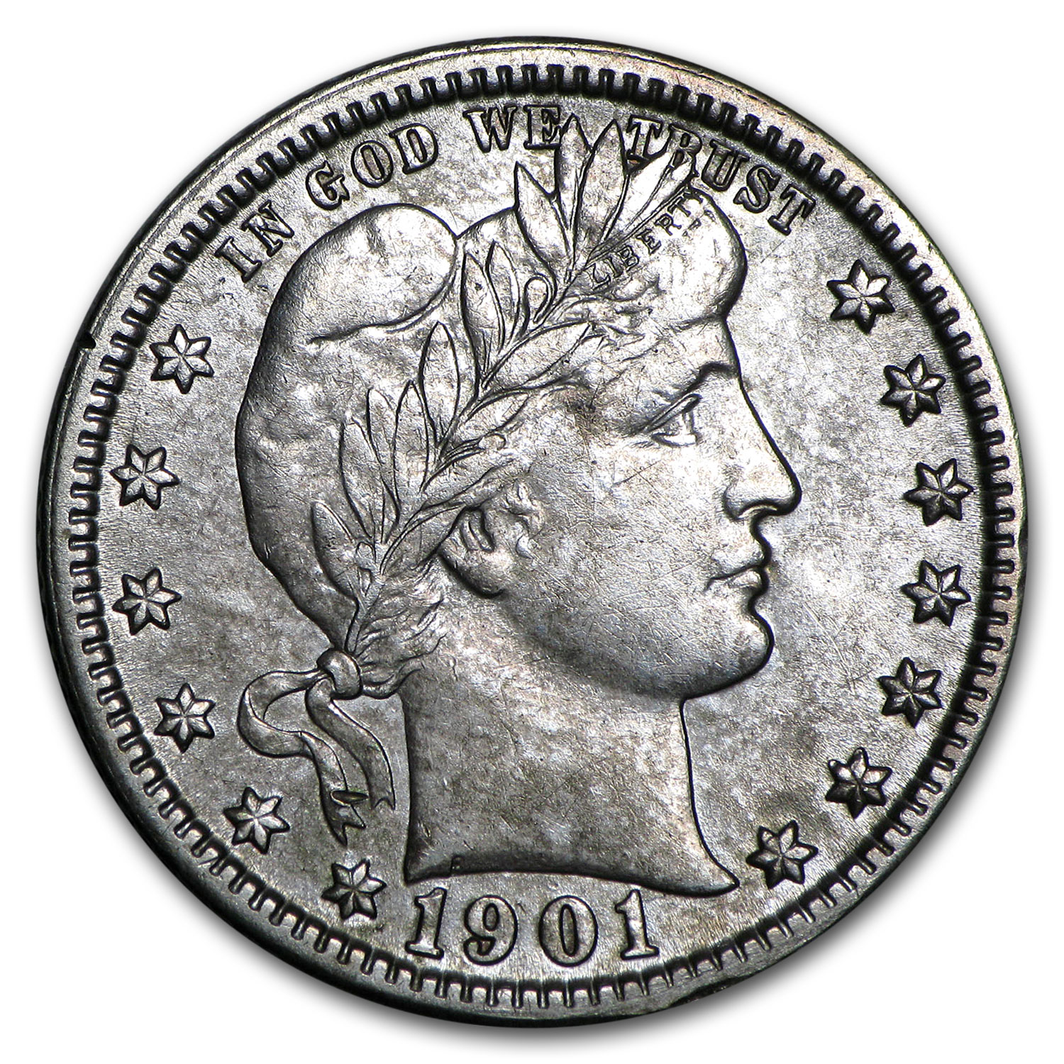 1901-O Barber Quarter XF