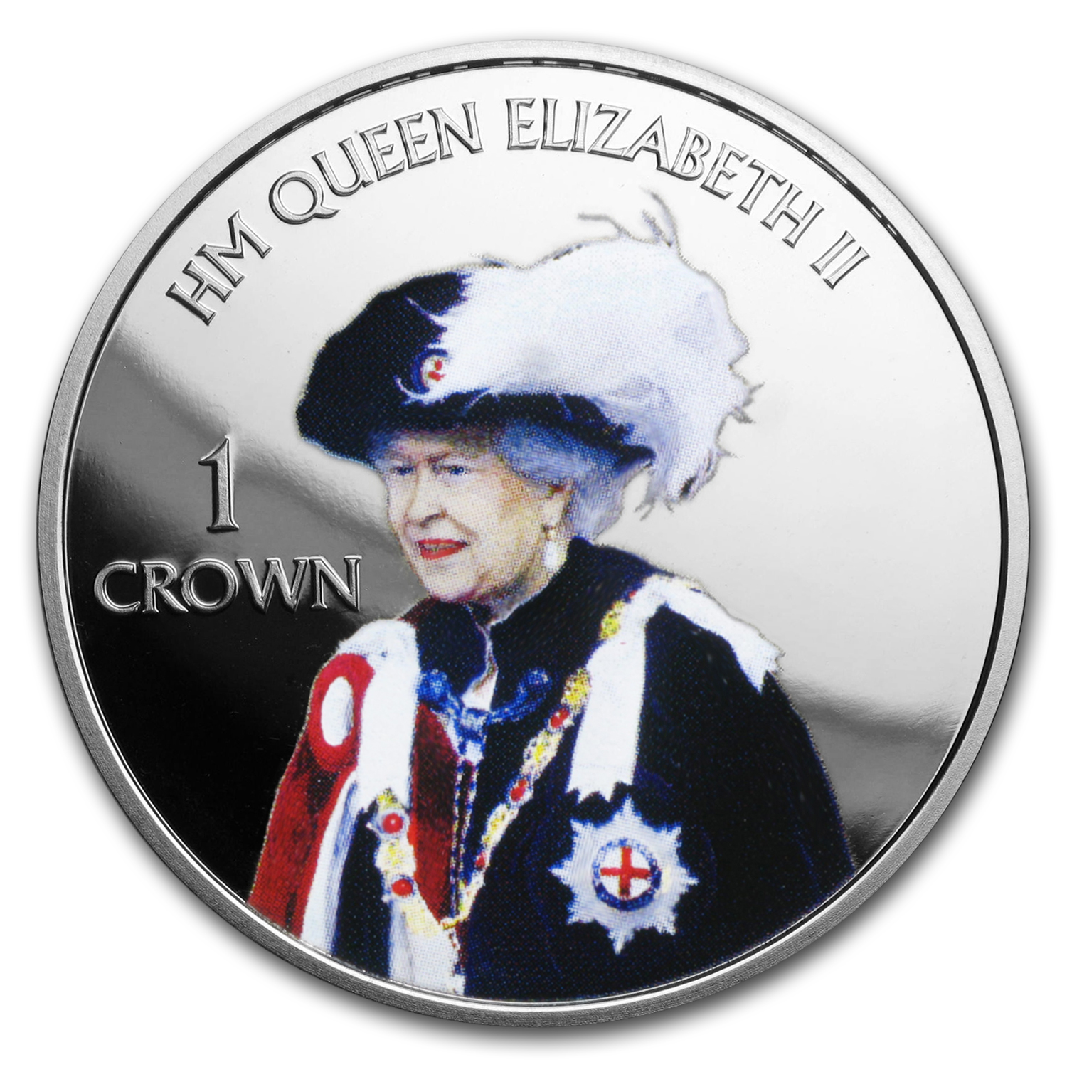 2016 Falkland Islands 1 Crown Queen's 90th (Order of the Garter)