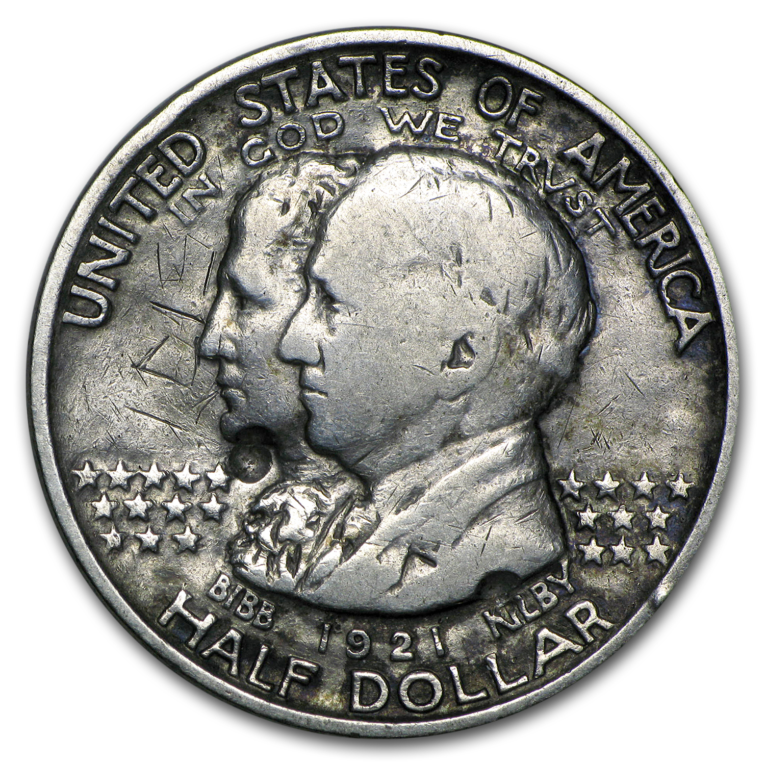 1921 Alabama Centennial Half Commemorative Cull