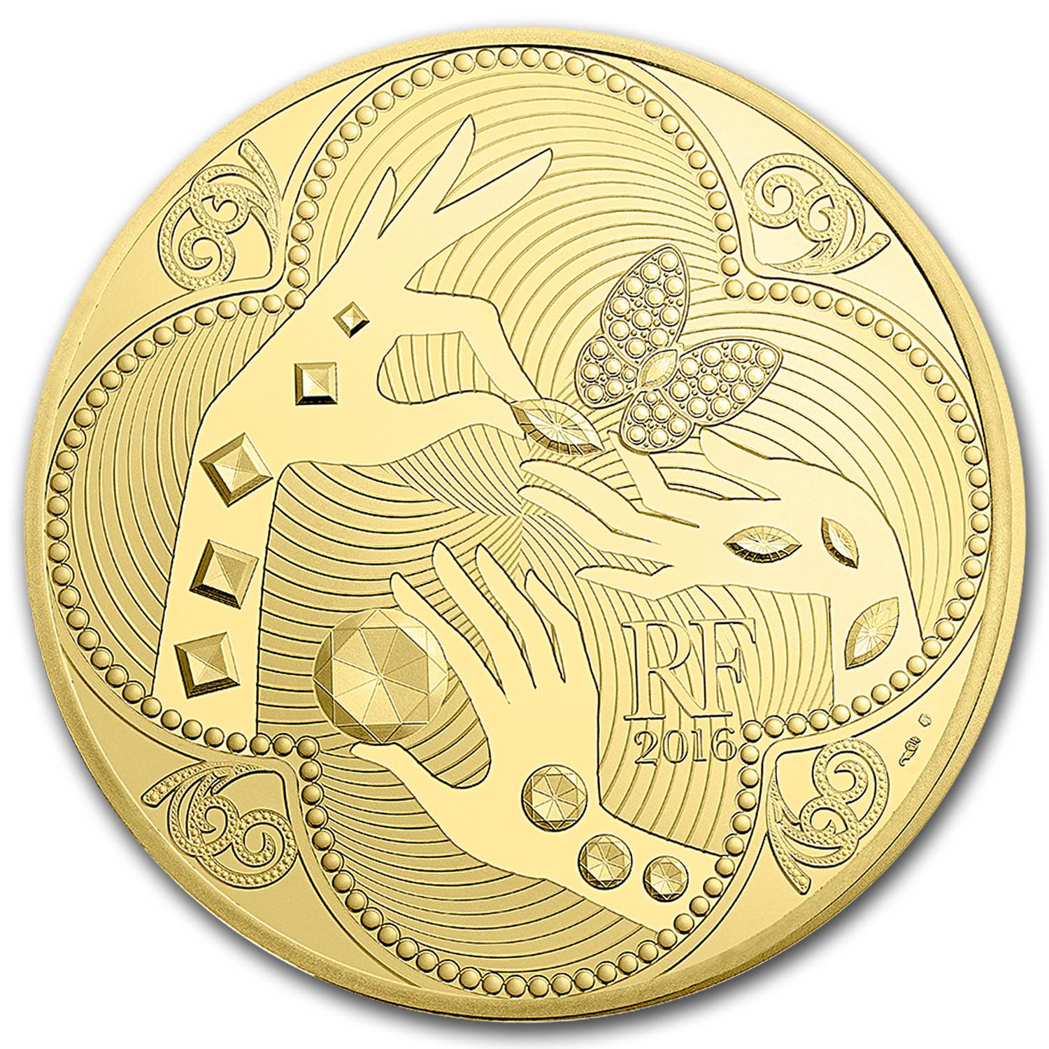 2016 5 oz Proof Gold €500 Excellence Series (Van Cleef & Arpels)