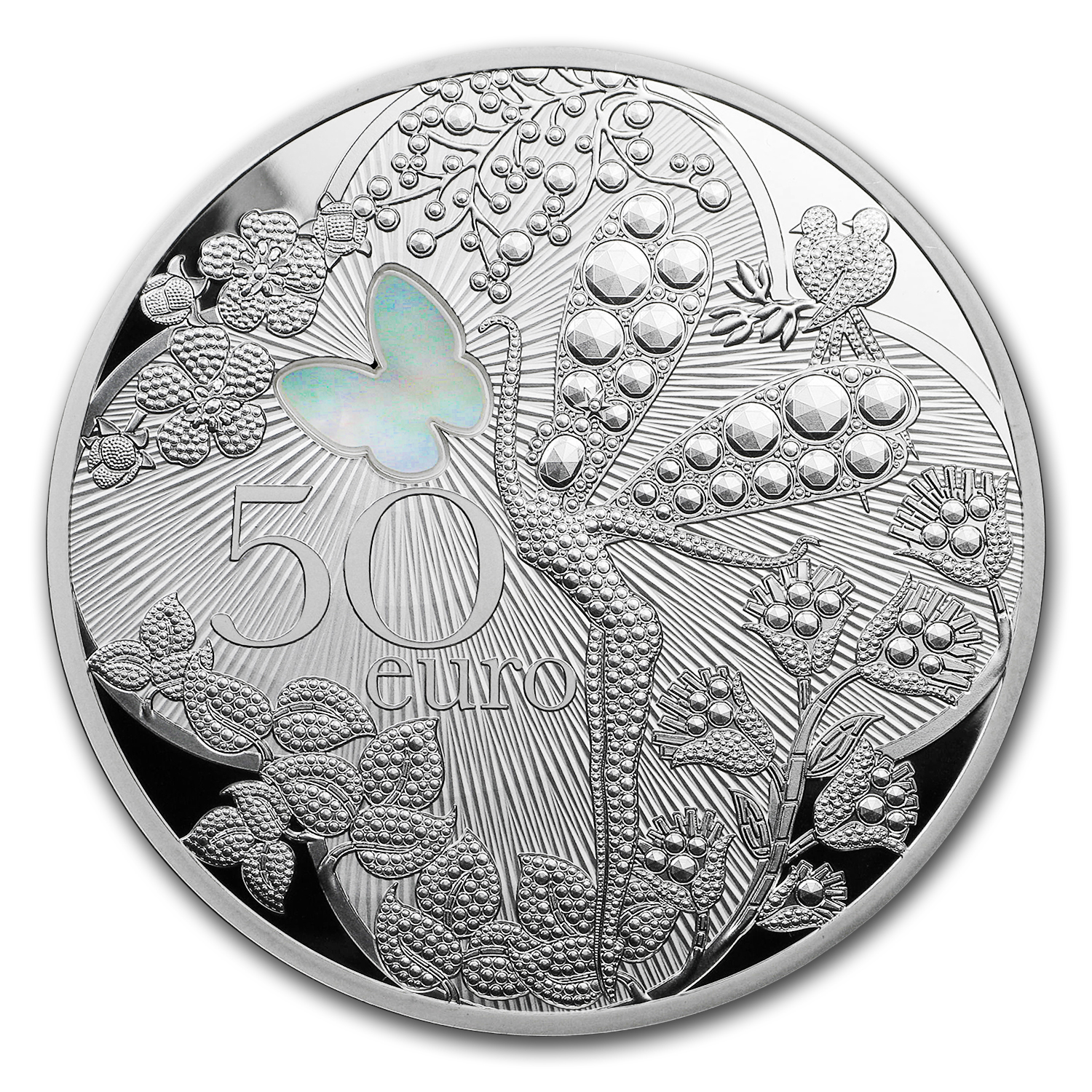 2016 France 5 oz Silver Excellence Series (Van Cleef & Arpels)