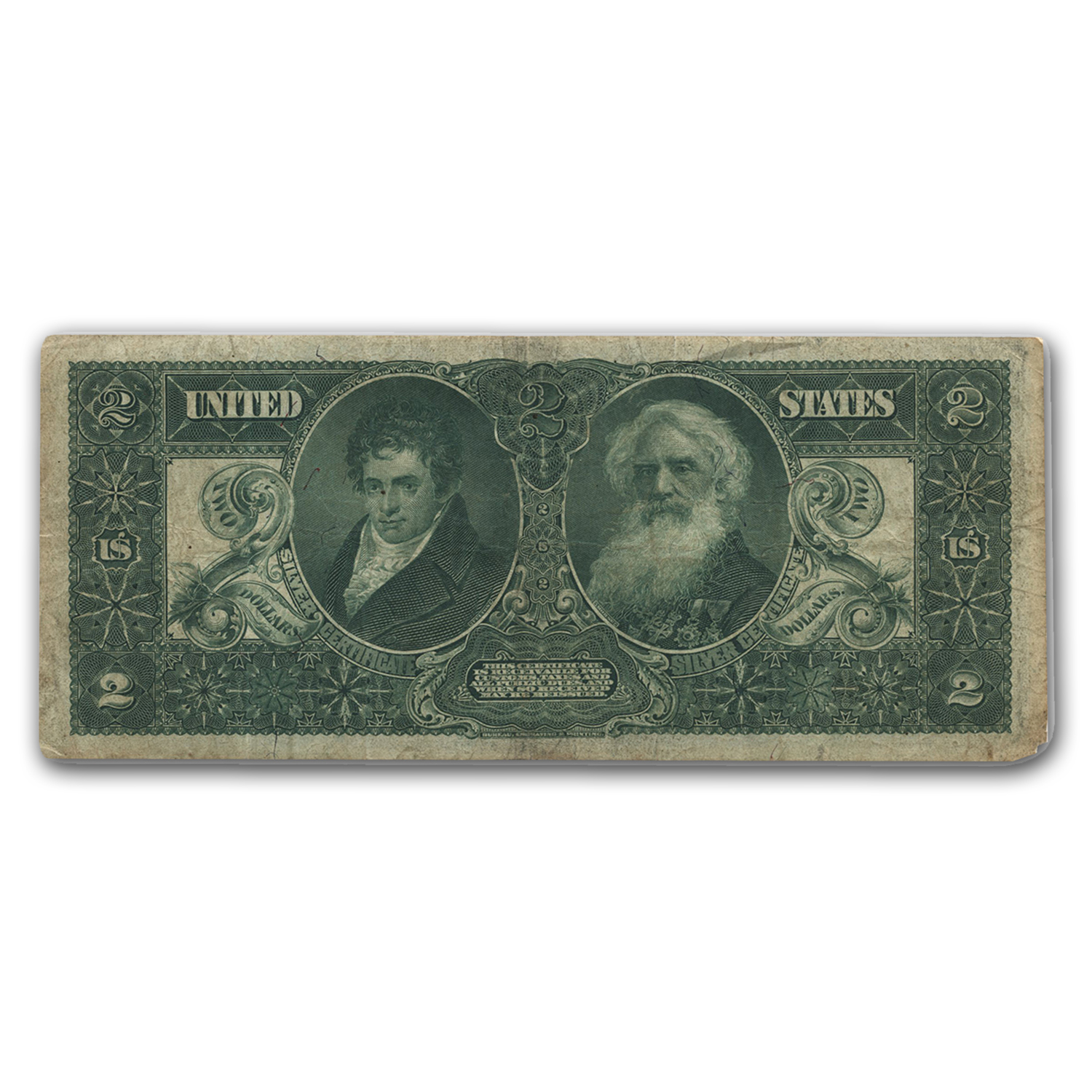 1896 $2.00 Silver Certificate Educational Note VF