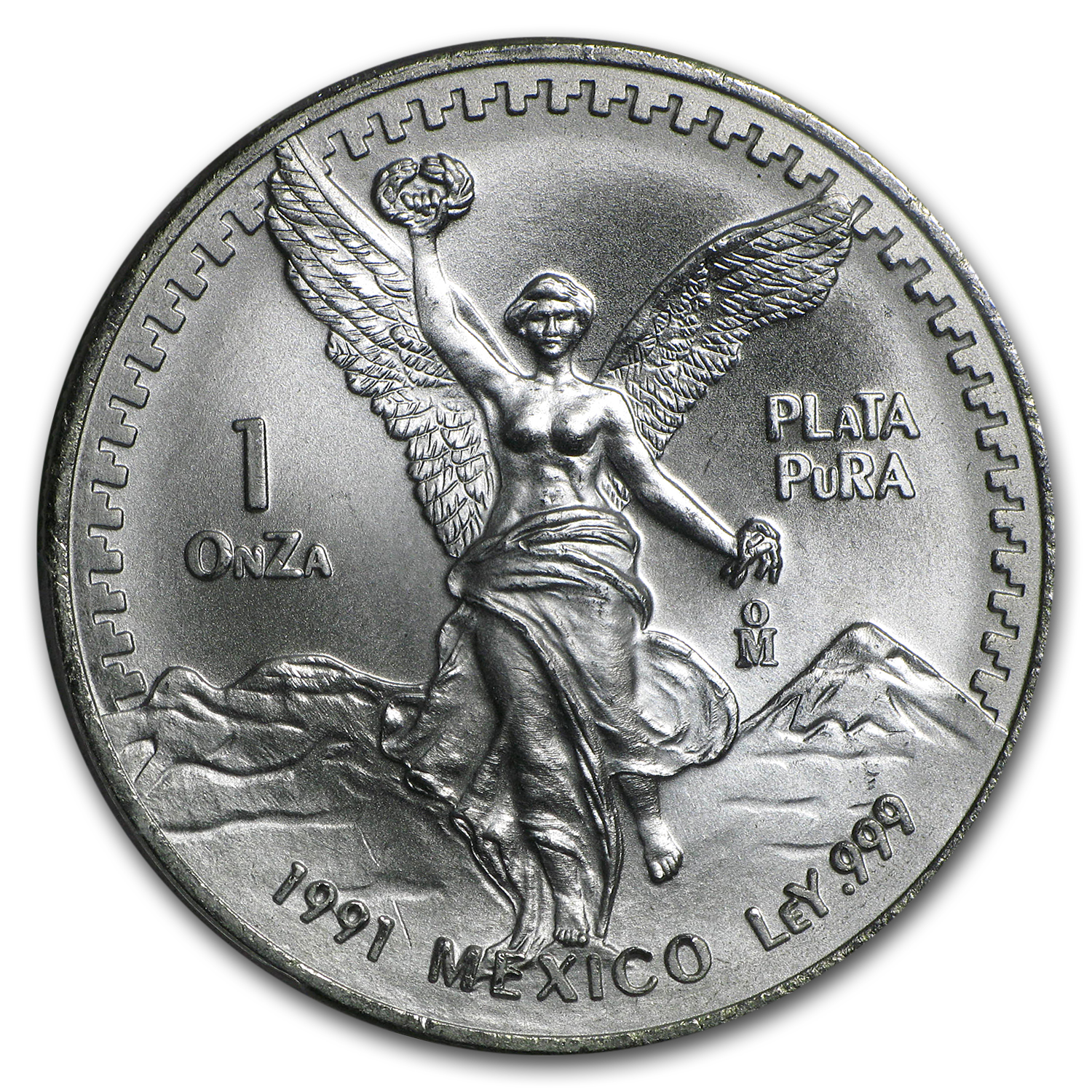 1991 Mexico 1 oz Silver Libertad Type 2 MS-67 PCGS