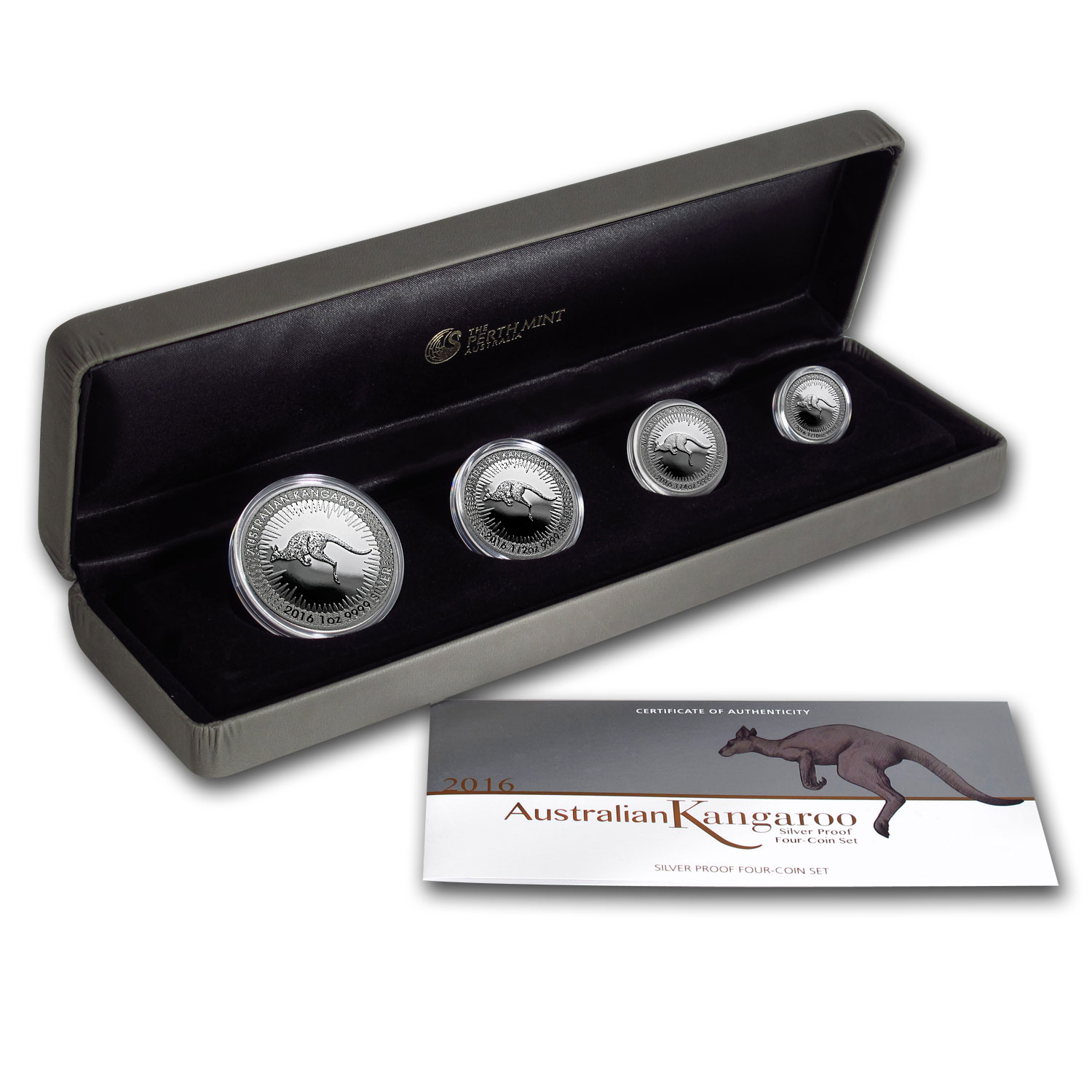 2016 Australia 4-Coin Proof Silver Kangaroo Set (Damaged Box)