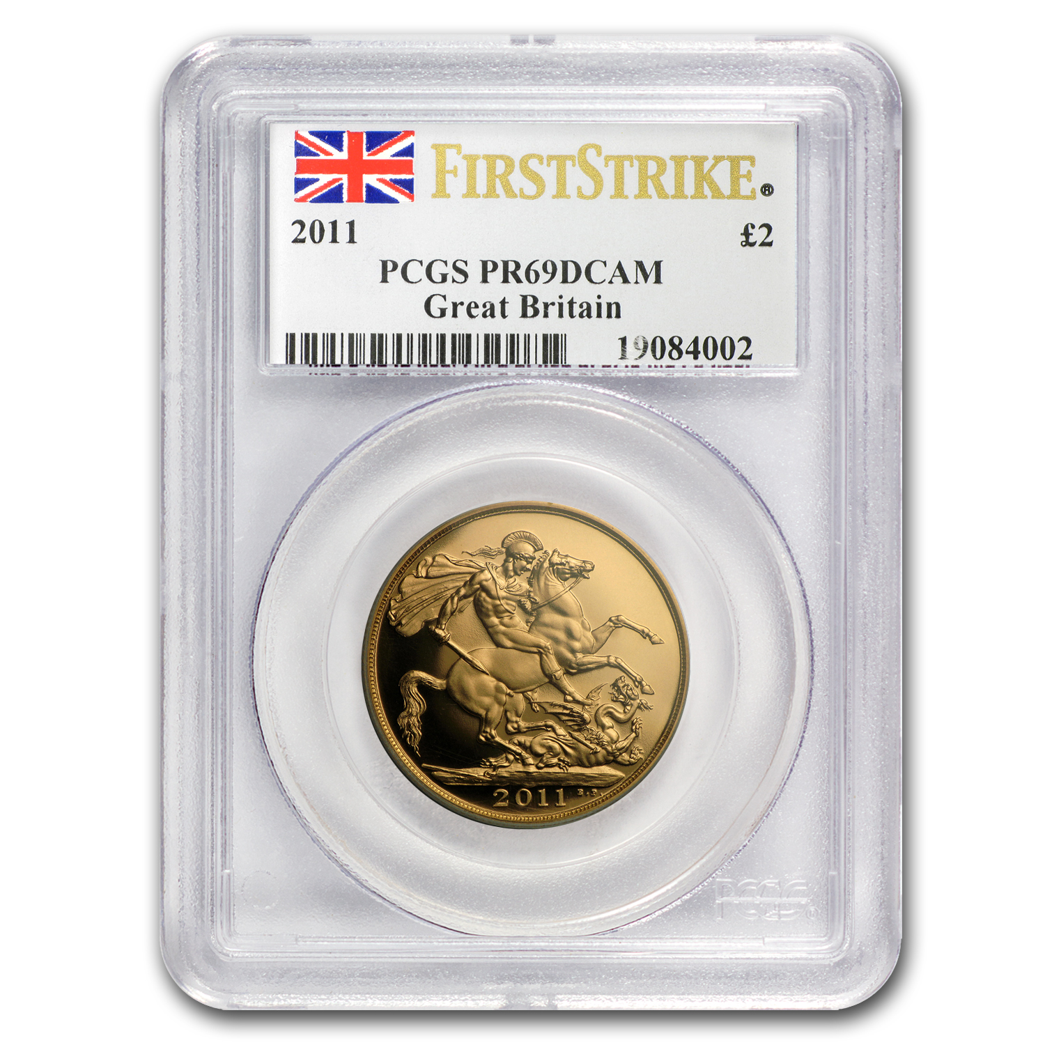 2011 Great Britain Gold £2 PR-69 PCGS (First Strike)