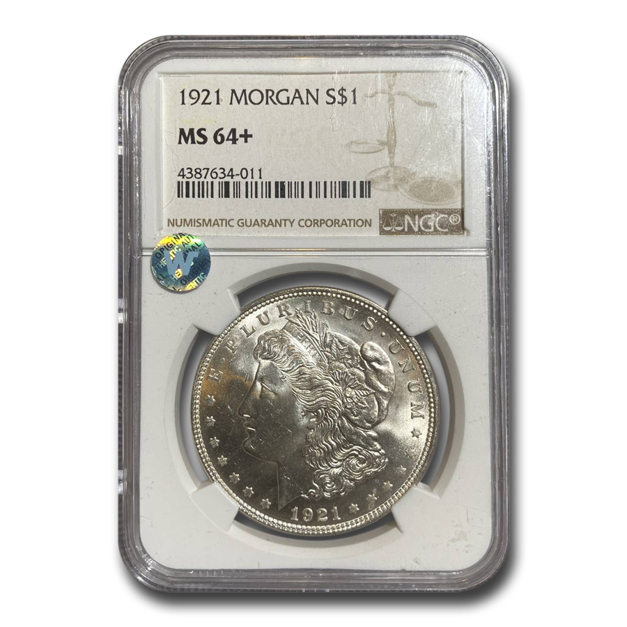 1921 Morgan Dollar MS-64+ NGC