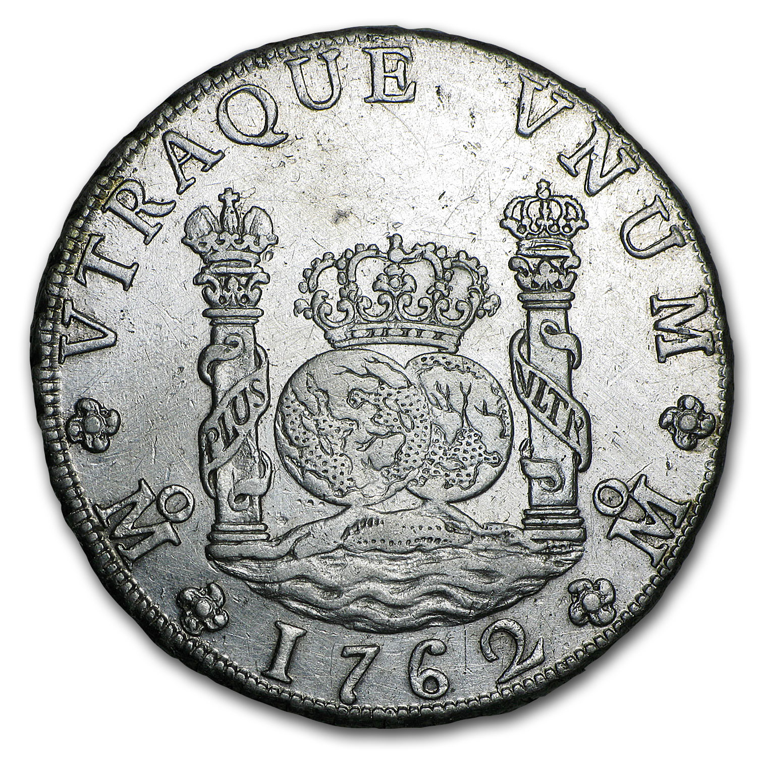 1762 Mo-MM Mexico Silver 8 Reales Pillar Dollar