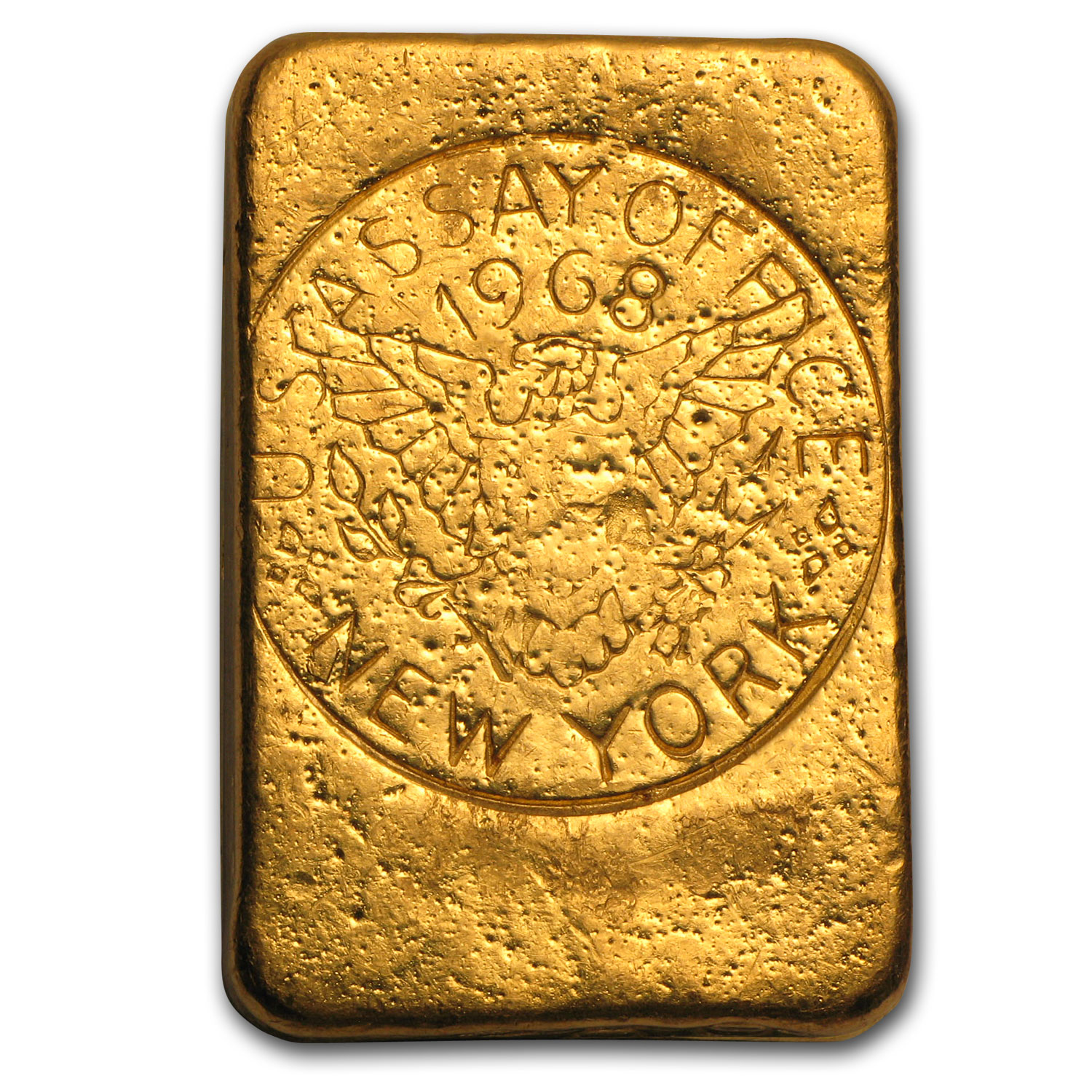 5.24 oz Gold Bar - 1968 NY Assay Office Ingot (999.8 Fine)