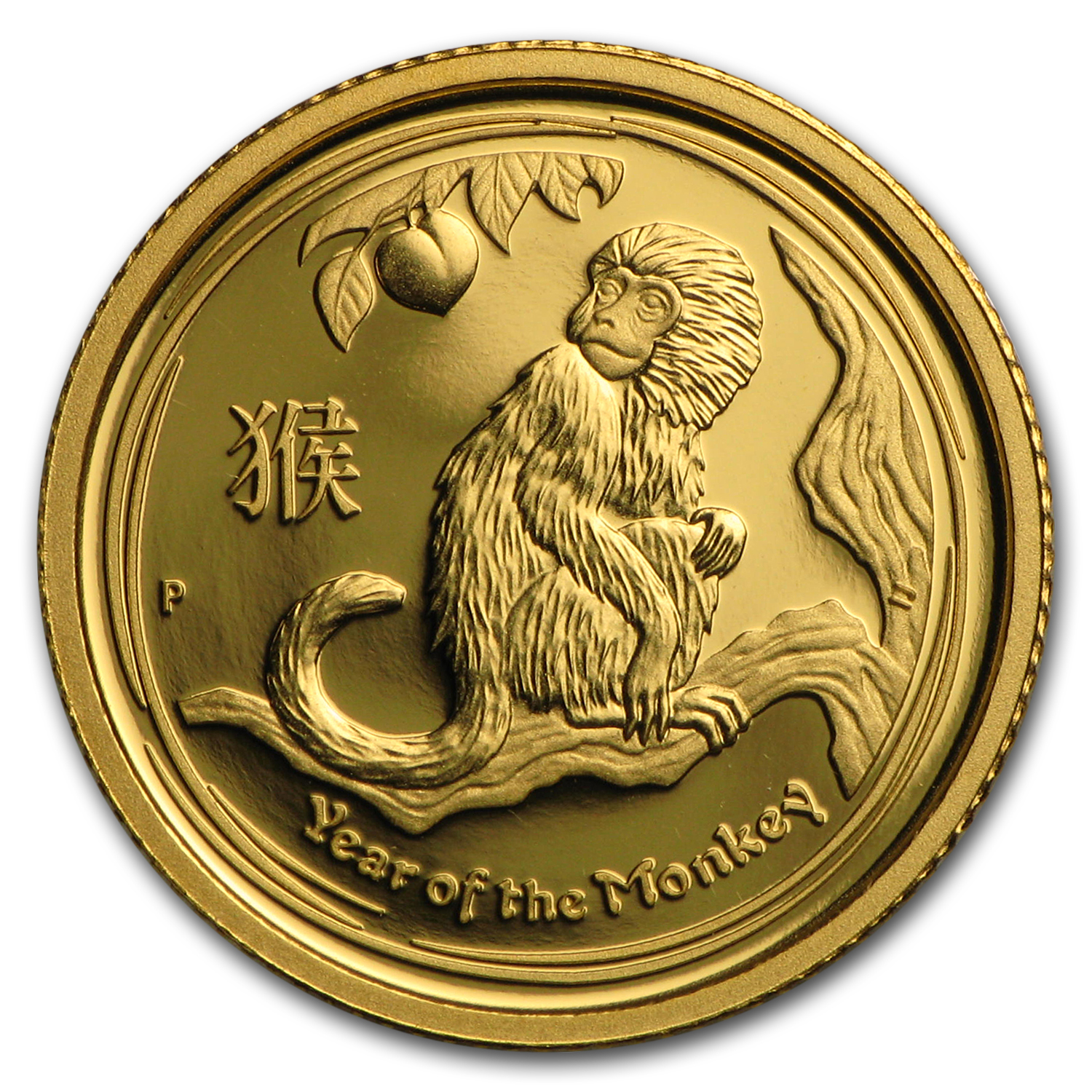 2016 Australia 1/10 oz Gold Lunar Monkey Proof