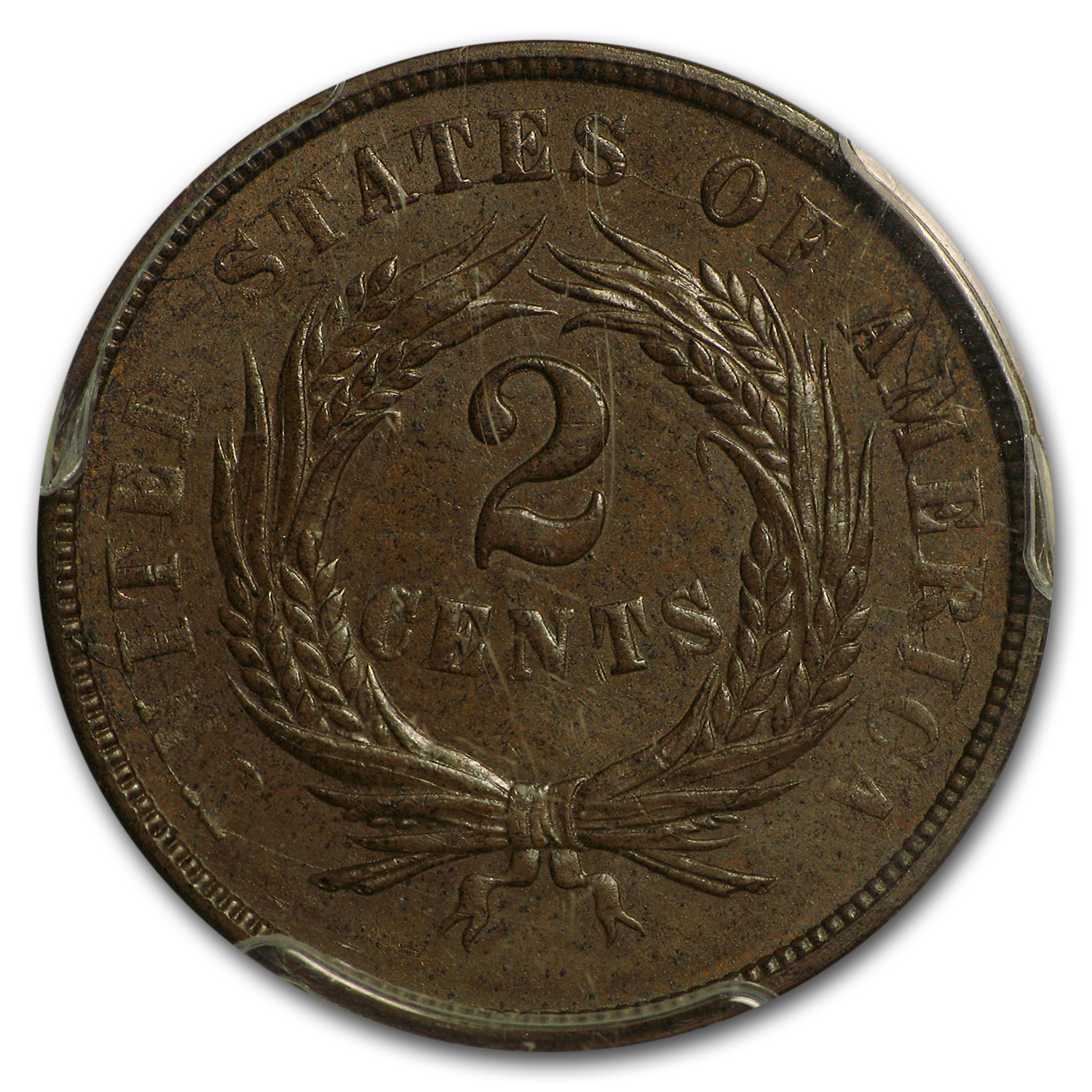 1868 Two Cent Piece MS-63 PCGS (Brown)